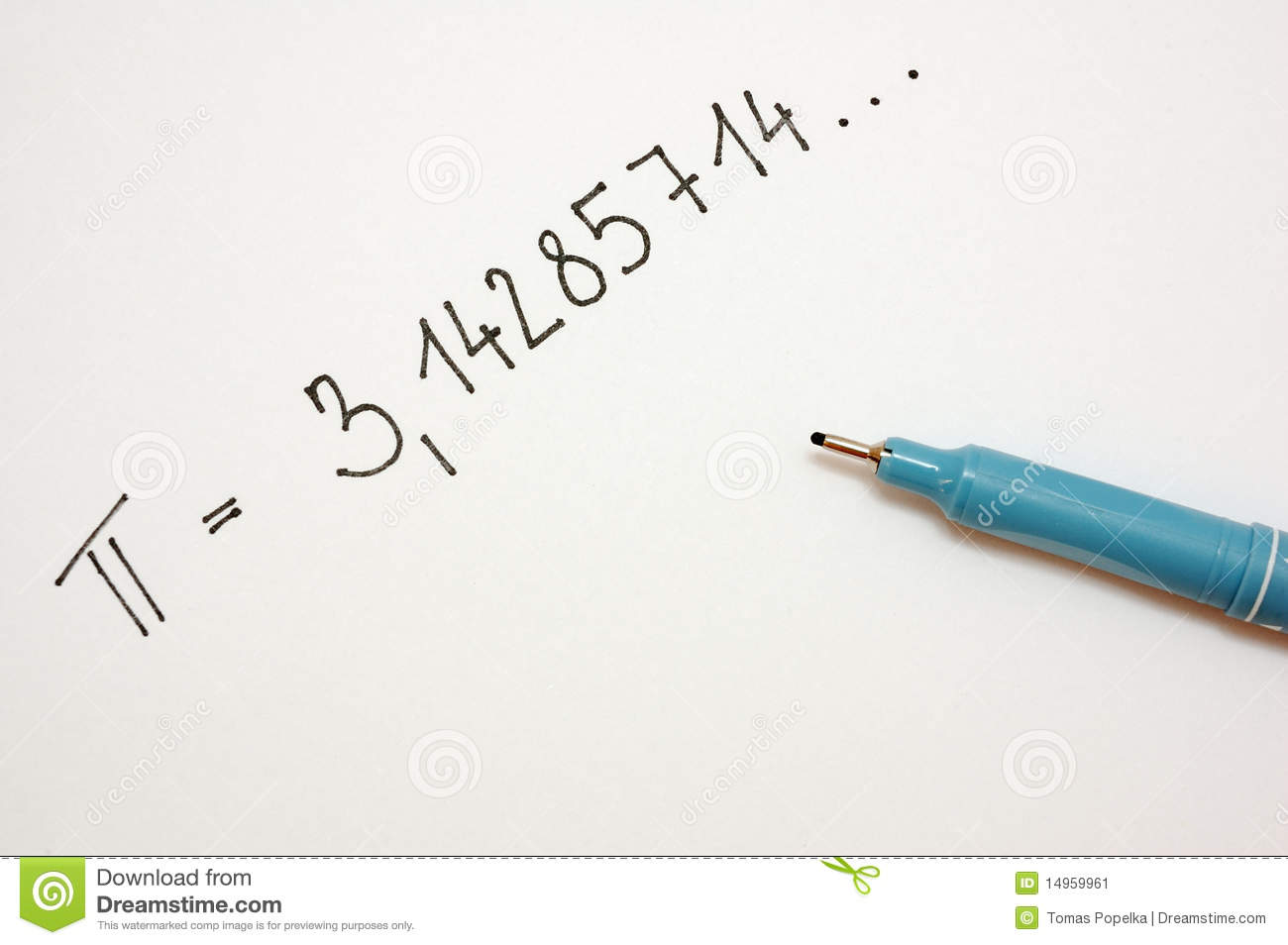 pi number 1 stock image image of number pencil school 14959961