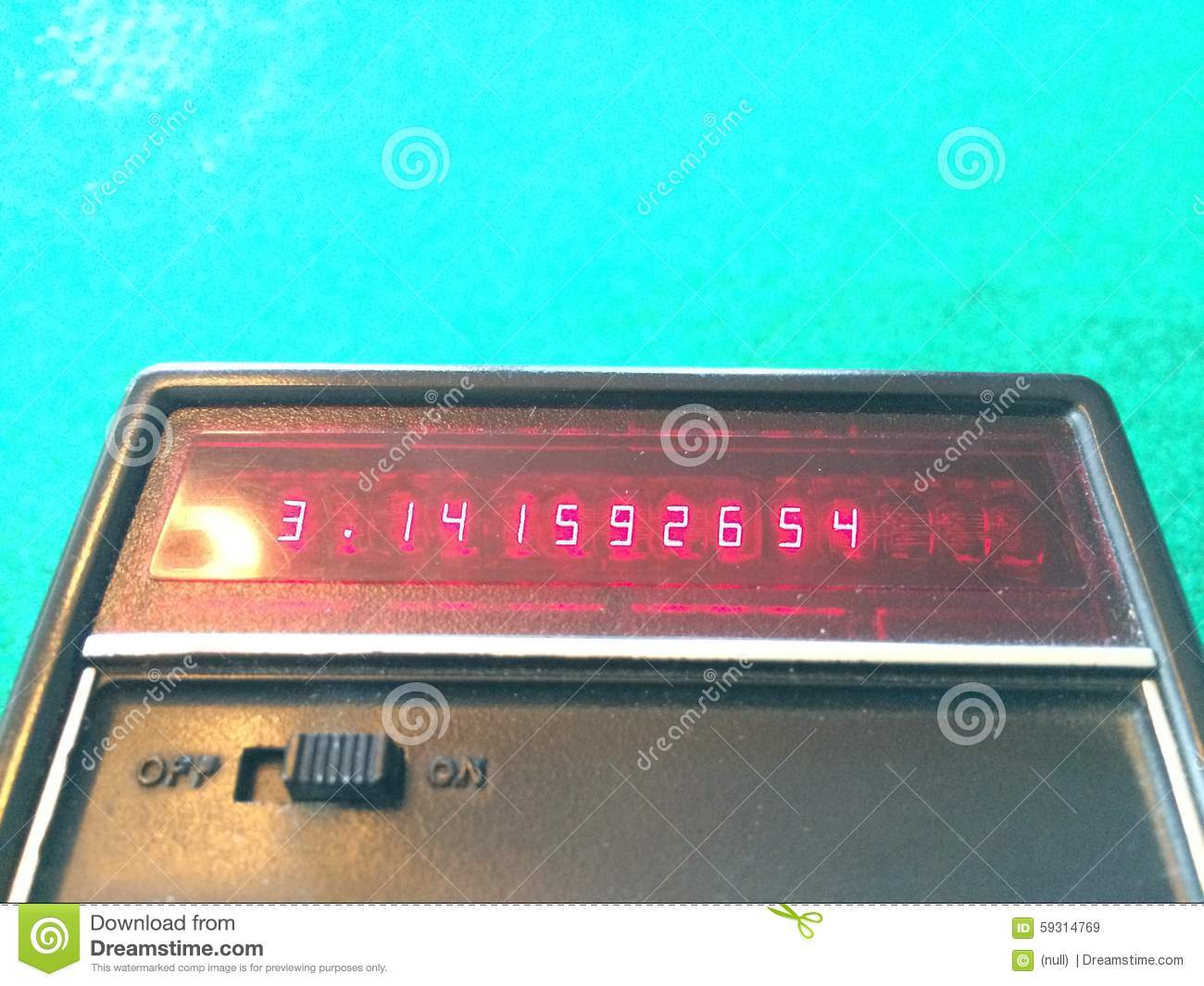pi on an old calculator stock image image of introduced 59314769