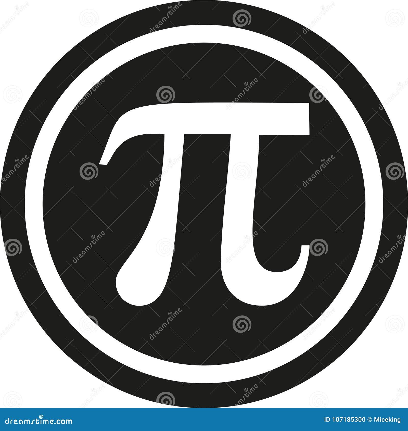 Pi Symbol In Circle Stock Vector Illustration Of Math 107185300