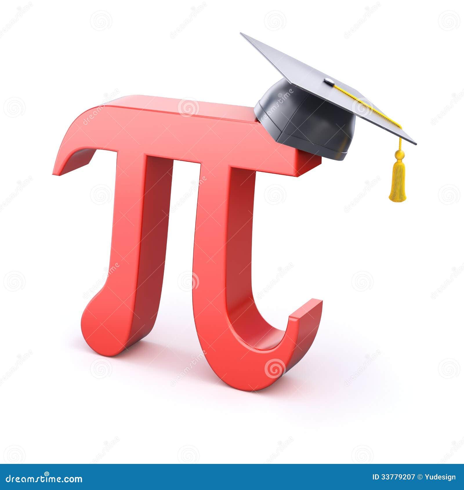 Pi Symbol With Graduation Cap Stock Illustration Illustration Of