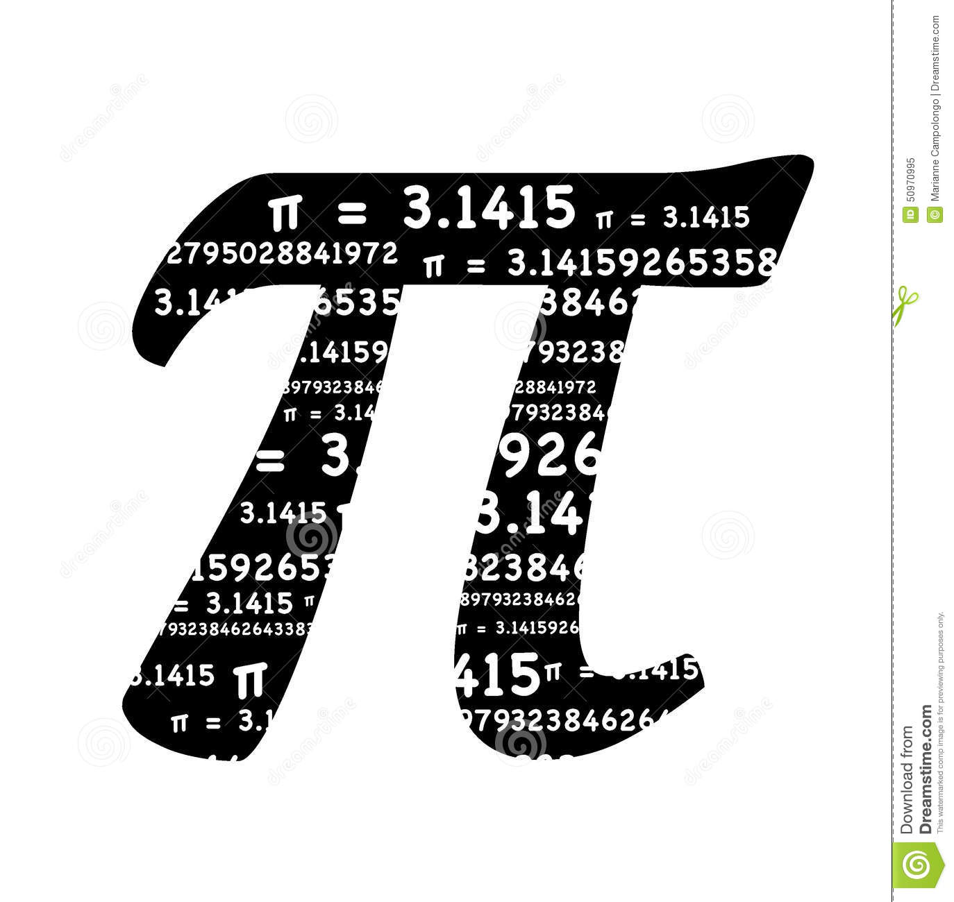 Pi Symbol Stock Illustration Illustration Of 31415 Education