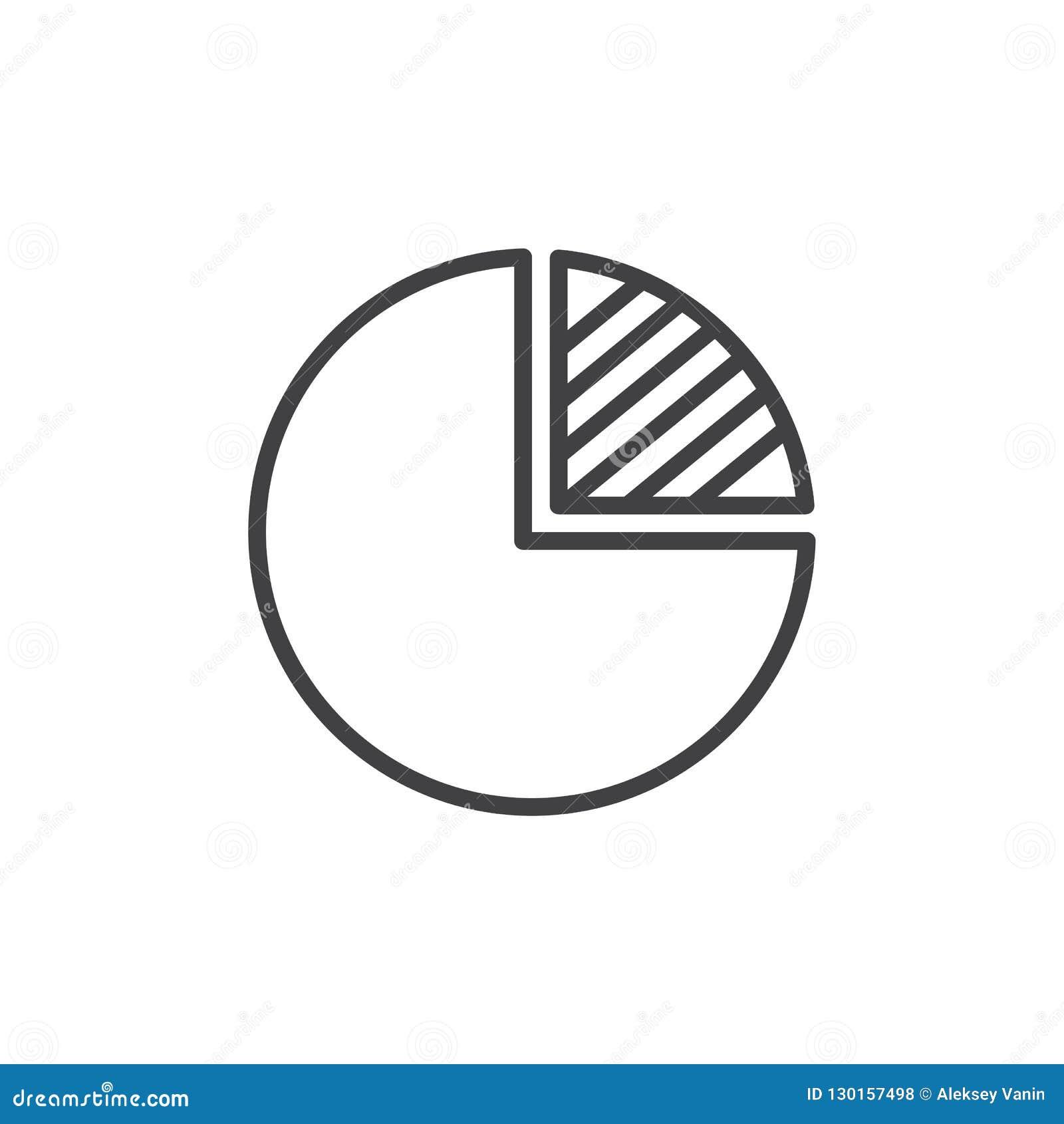 Pi wykresu konturu ikona