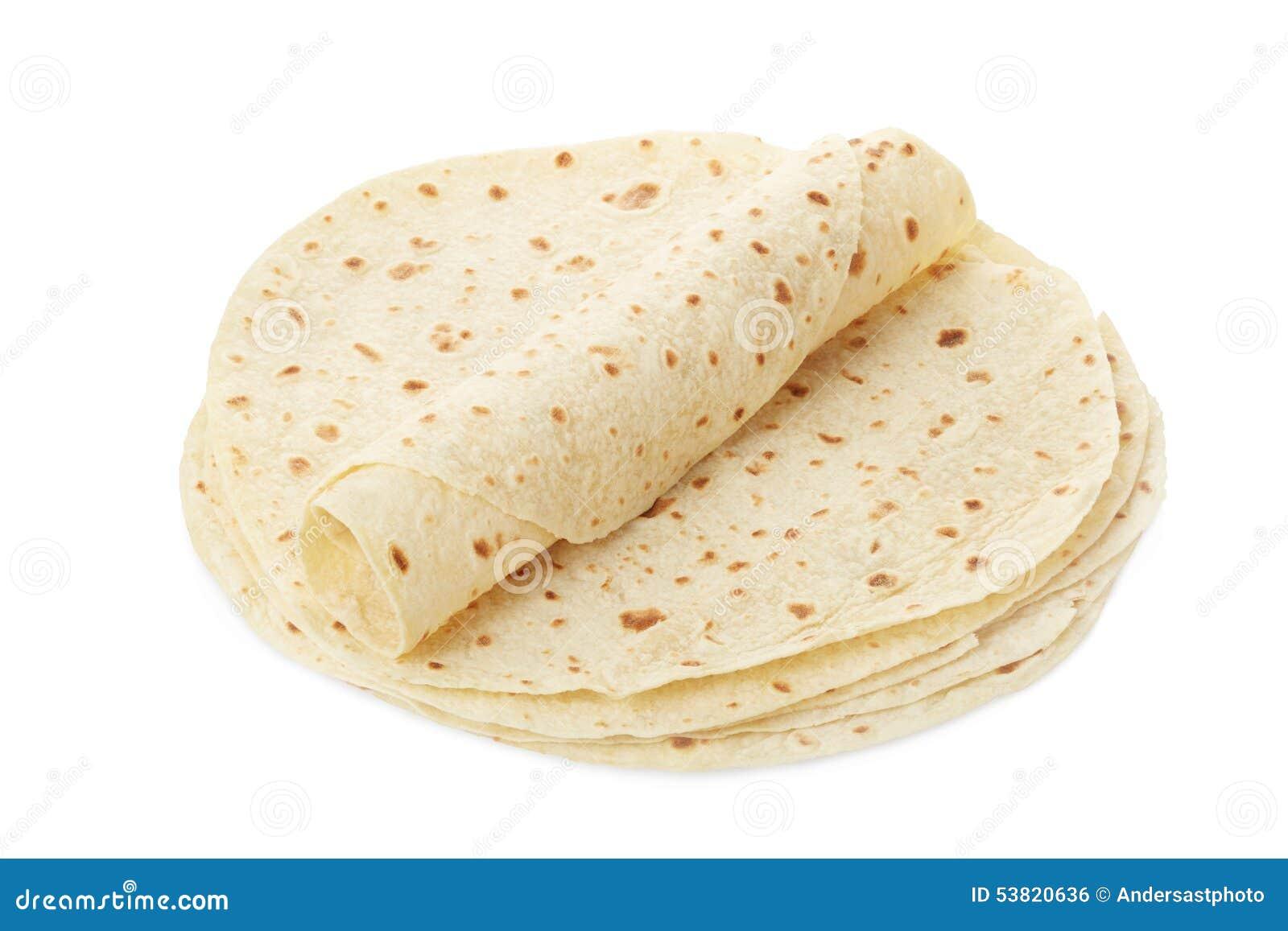 Piadina, tortilla et enveloppe