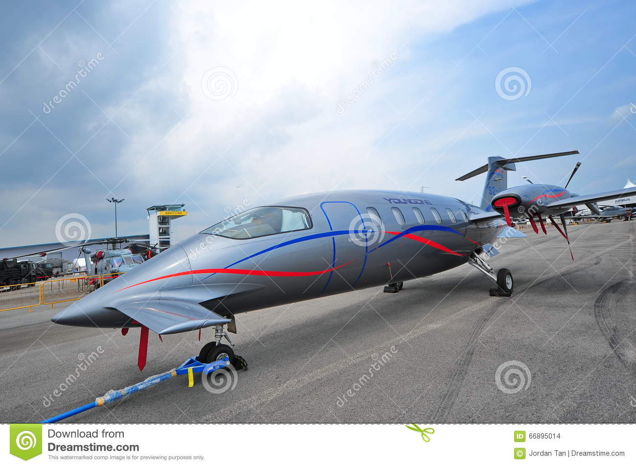 piaggio aero p180 avanti ii business turboprop jet on display at