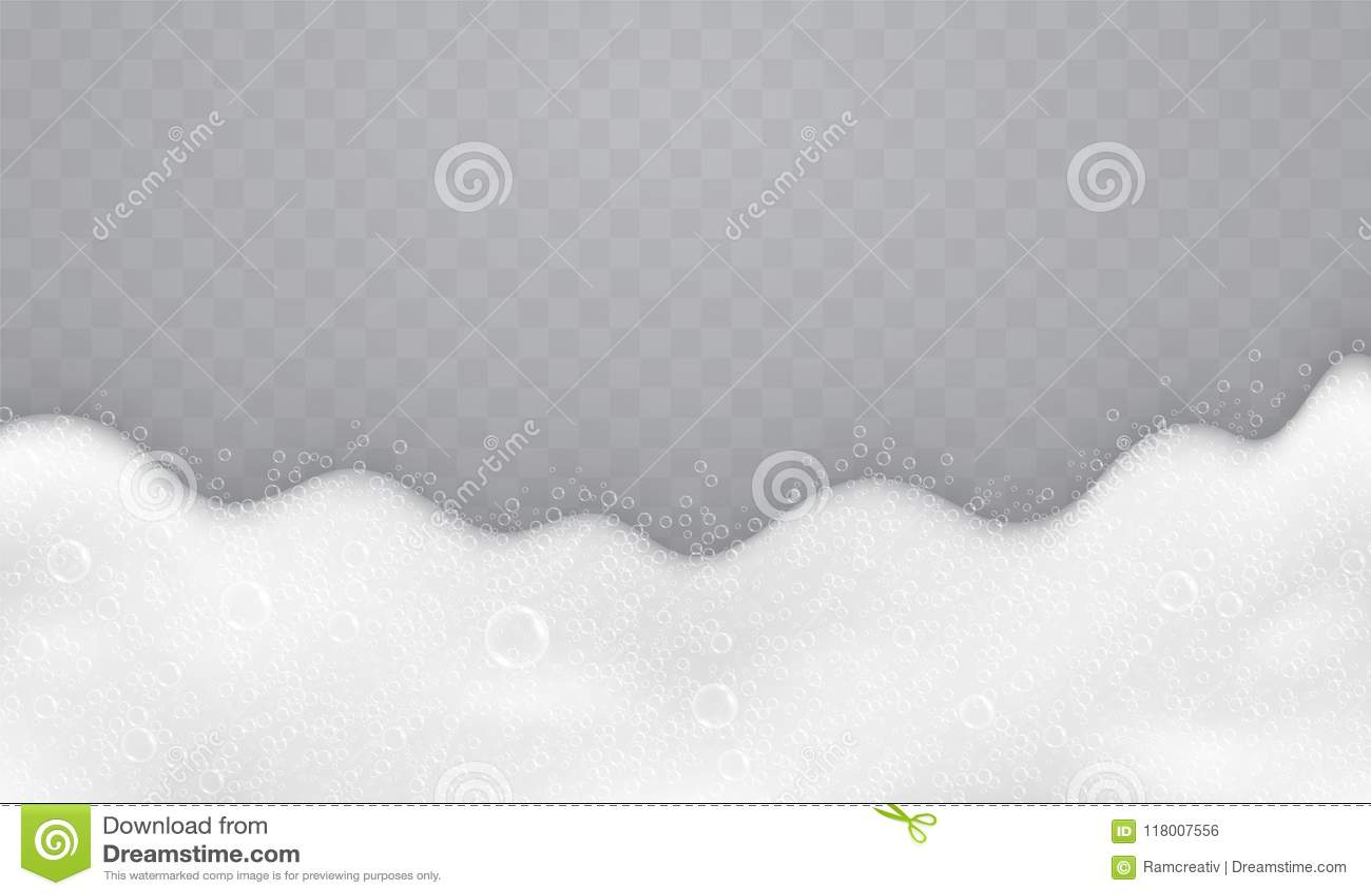Piana z mydlanymi bąblami, odgórny widok Przepływ mydło i szampony