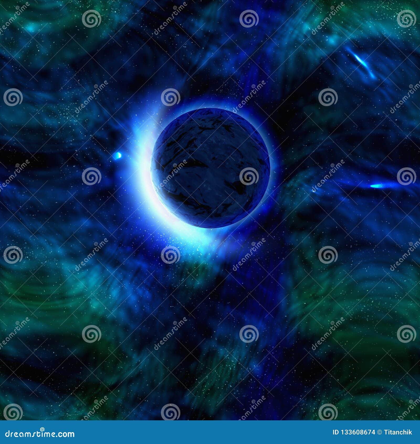 Pianeta astratto del fondo dello spazio cosmico