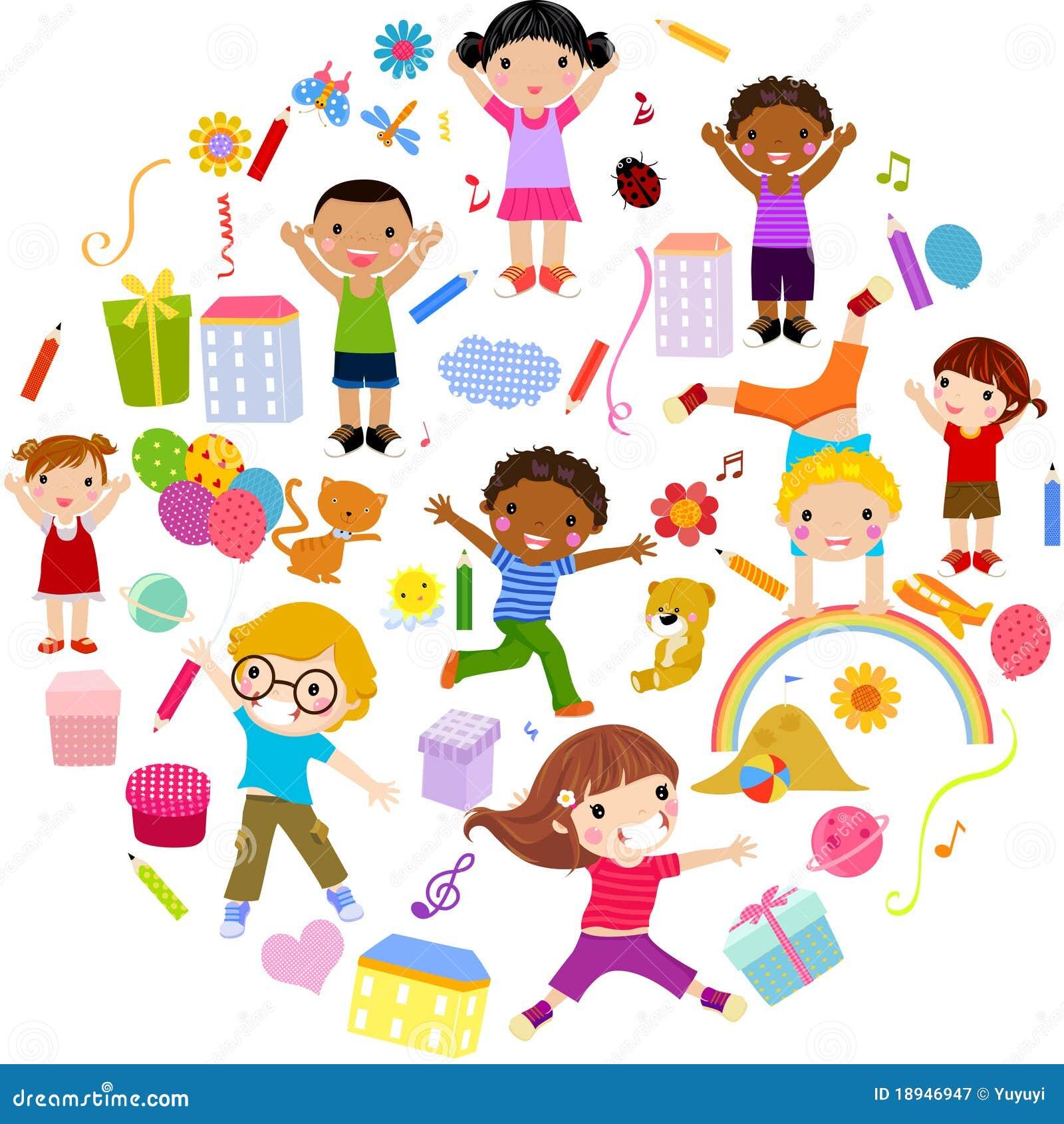 pianeta dei bambini variopinto illustrazione di stock