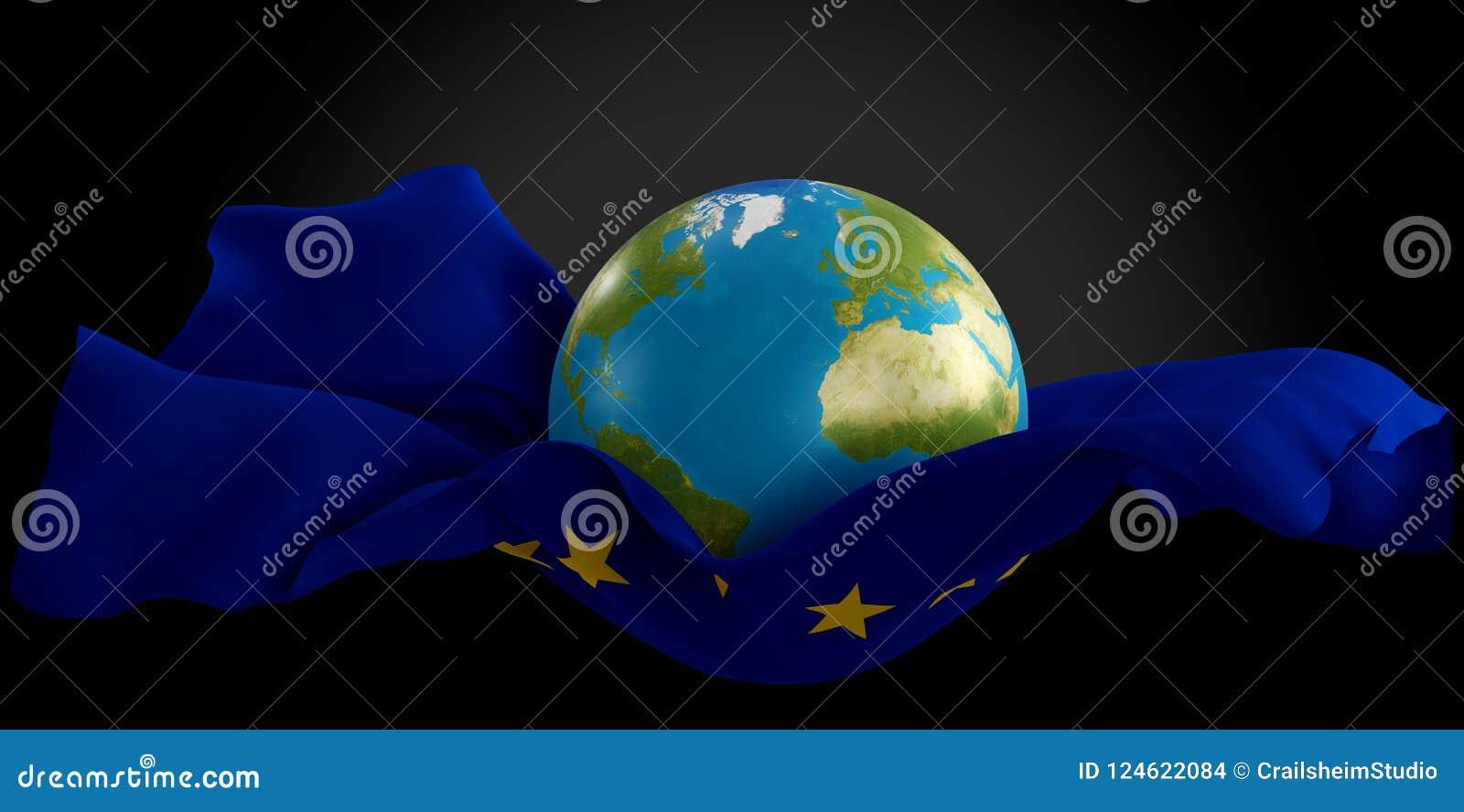 Pianeta Terra Allungato Del Mondo Dello Strato Di Salto Di