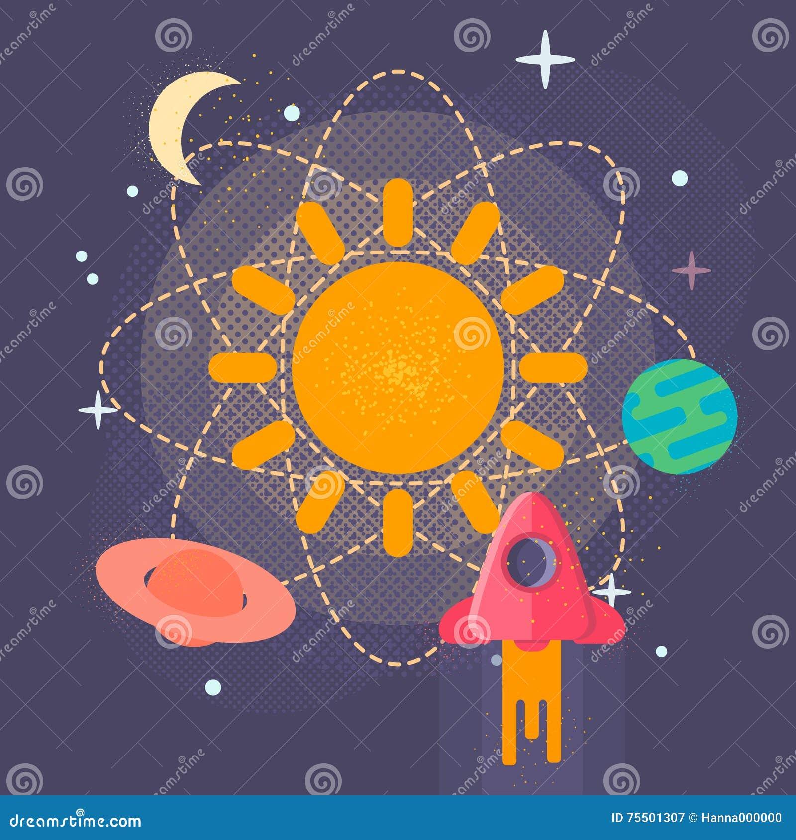 Pianeti Sistema Solare Illustrazioni Vettoriali E Clipart Stock Solar System Planets Diagram Vector Image 49592184 Del Lillustrazione Dei Nello