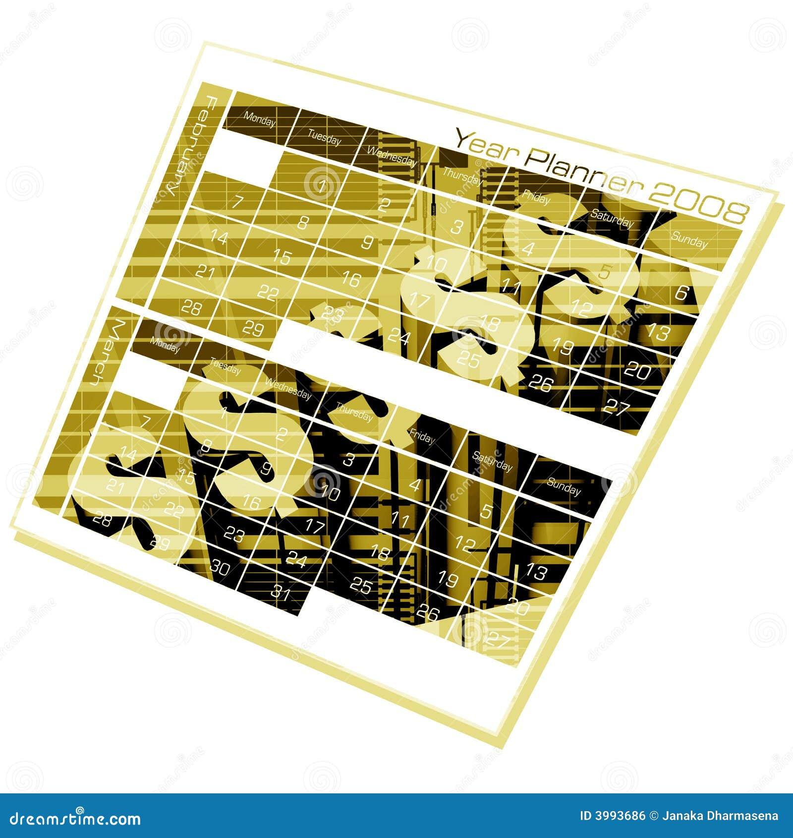 Pianificatore di anno illustrazione di stock for Pianificatore di blueprint gratuito