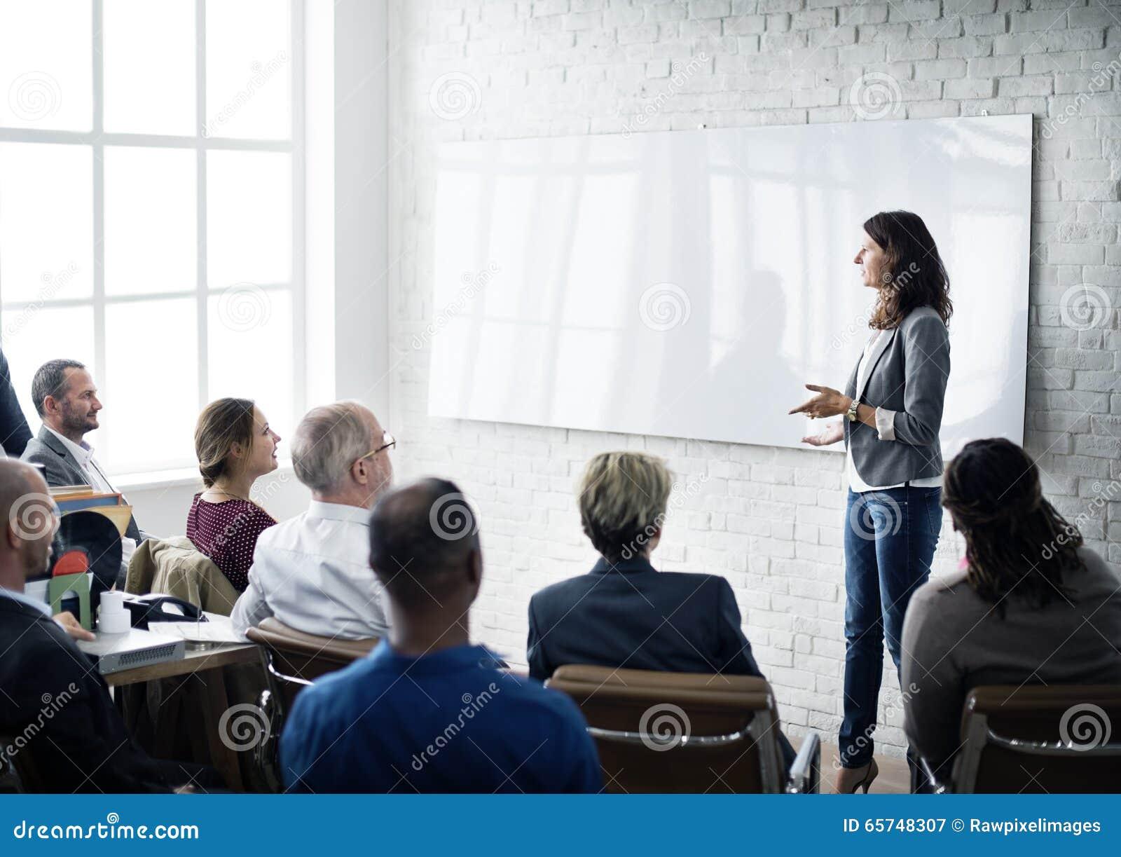 Pianificazione di addestramento di conferenza che impara concetto di preparazione di affari