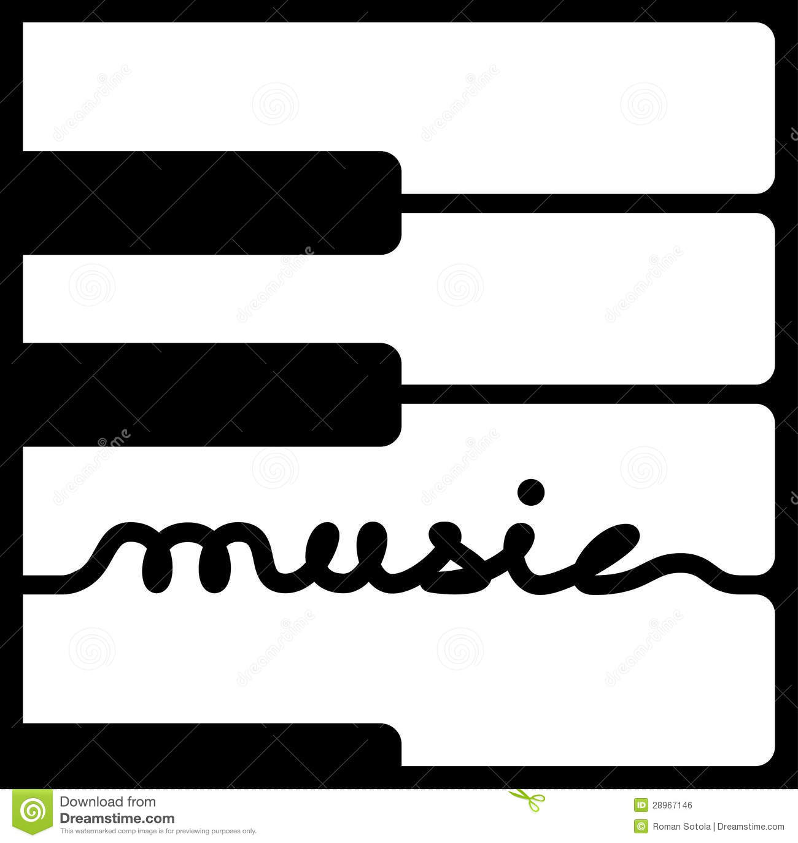 Pianino wpisuje muzyczną kaligrafię