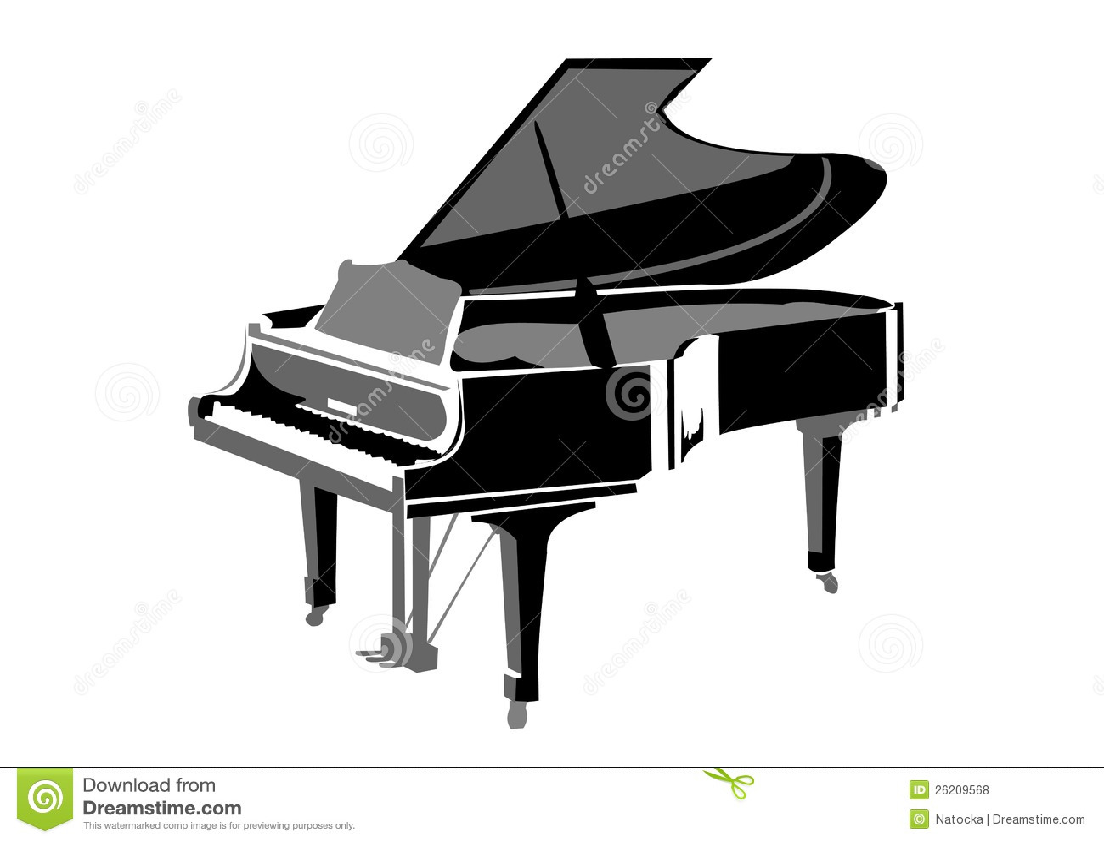 piano queue r aliste illustration de vecteur image du. Black Bedroom Furniture Sets. Home Design Ideas