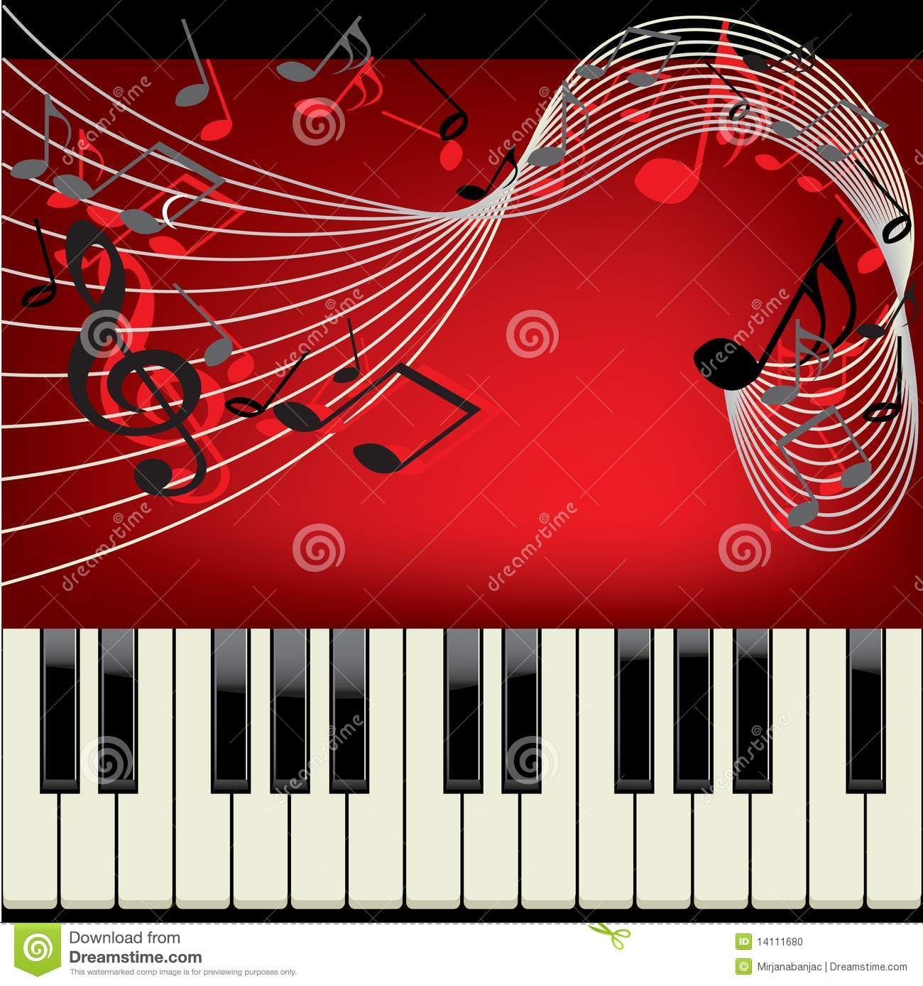 Piano Background Music: Piano Background Stock Photo