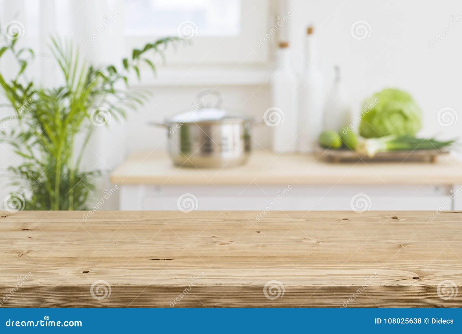 Piano D\'appoggio Con L\'interno Vago Della Cucina Come Fondo ...