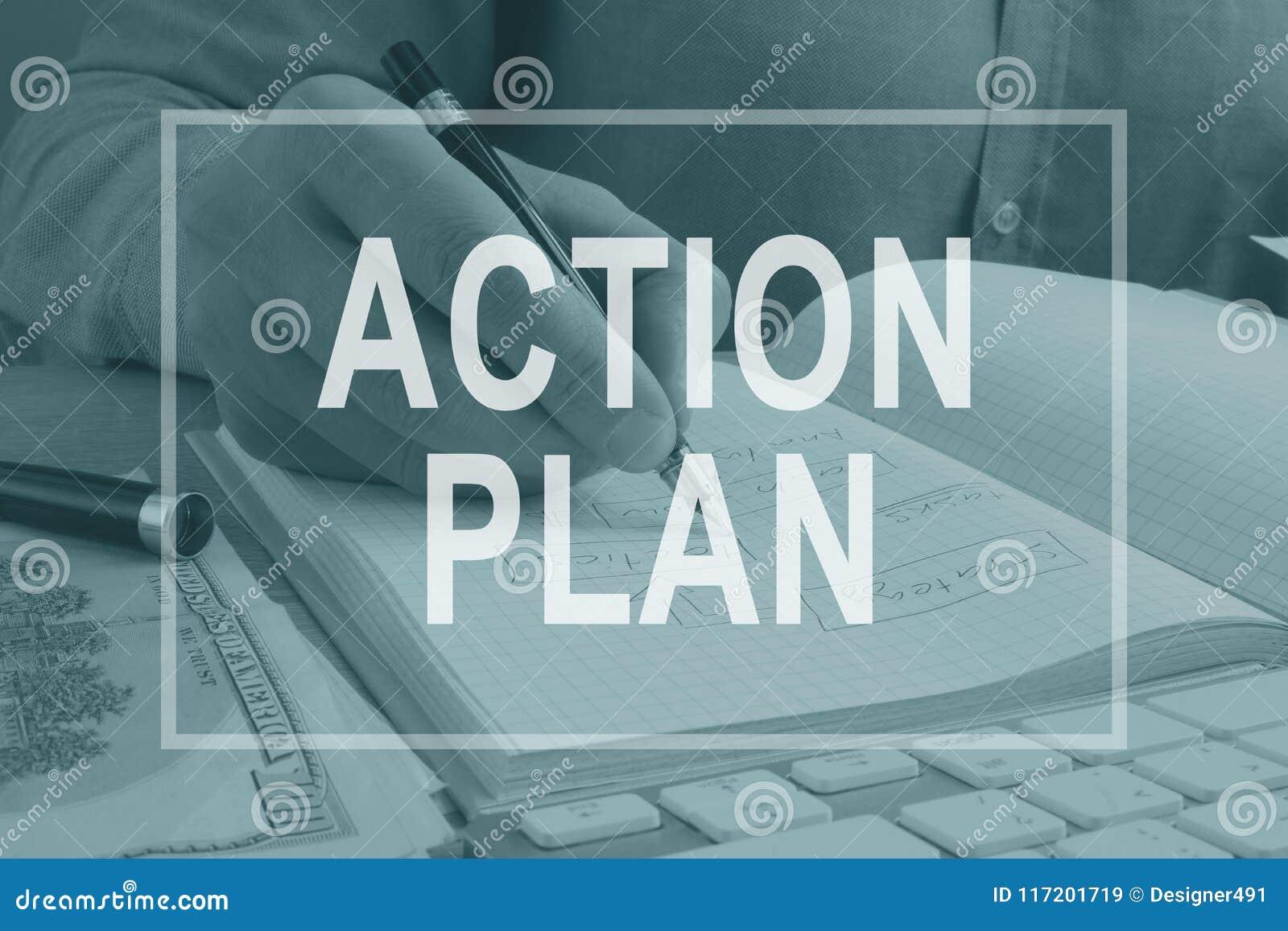 Piano d azione scritto nella nota dall uomo