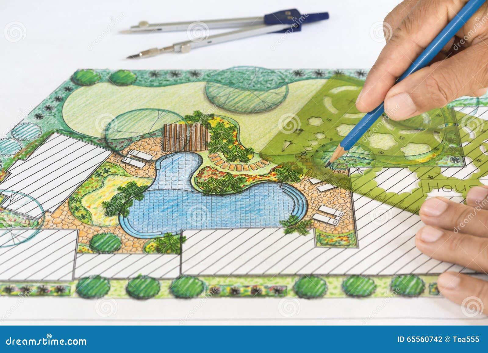 Piano del cortile di progettazione dell 39 architetto paesaggista fotografia stock immagine di - Architetto prato ...
