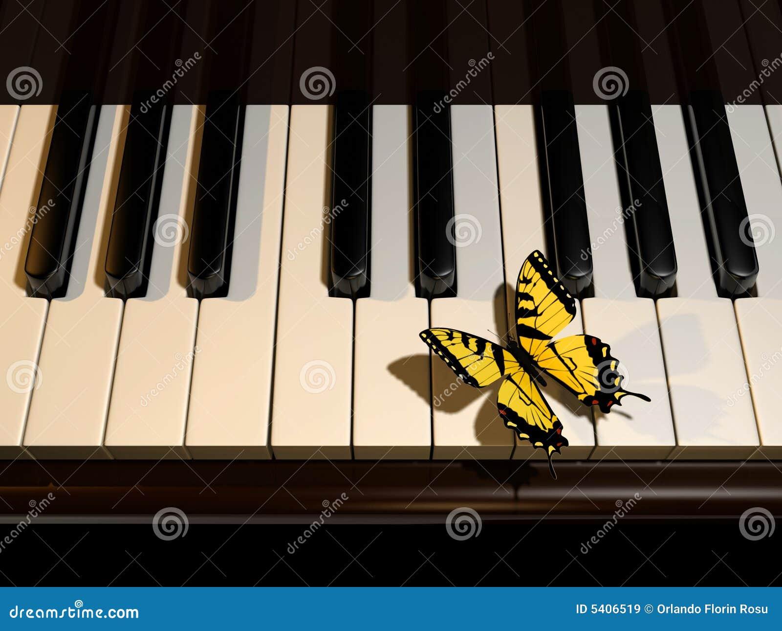 Piano e borboleta