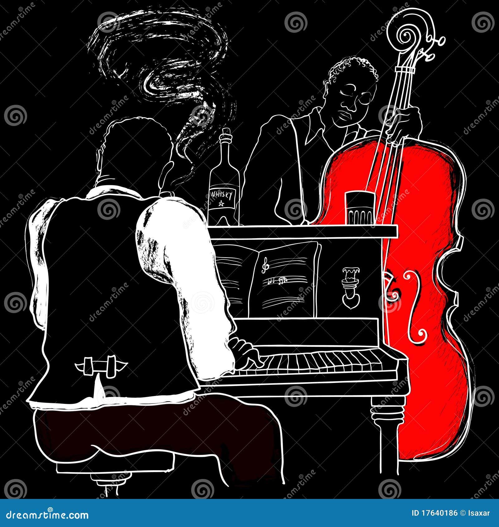 Piano e doppio-spigola di jazz