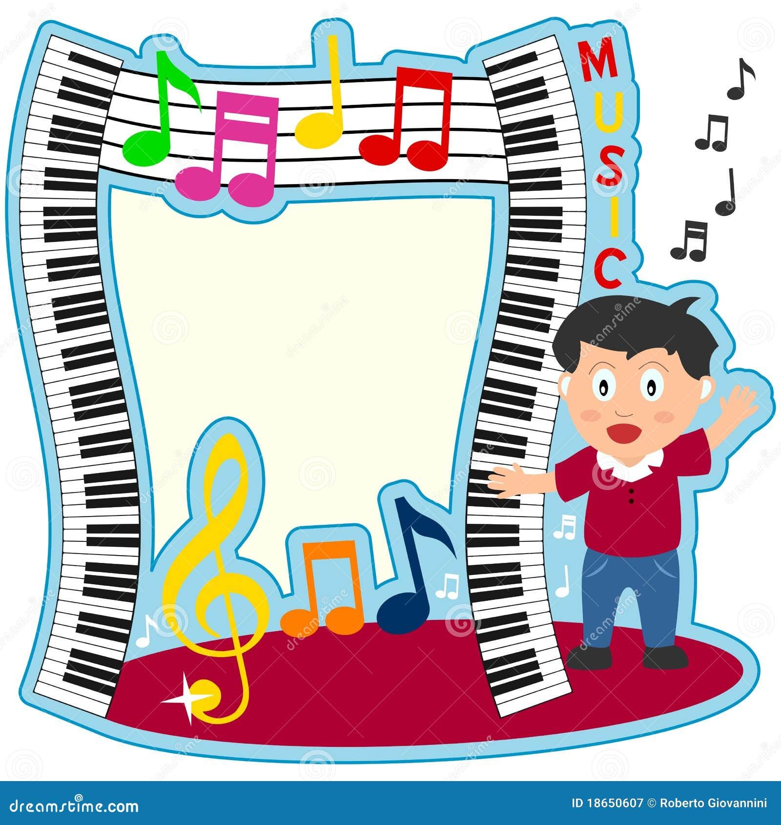 Piano för foto för pojkeramtangentbord