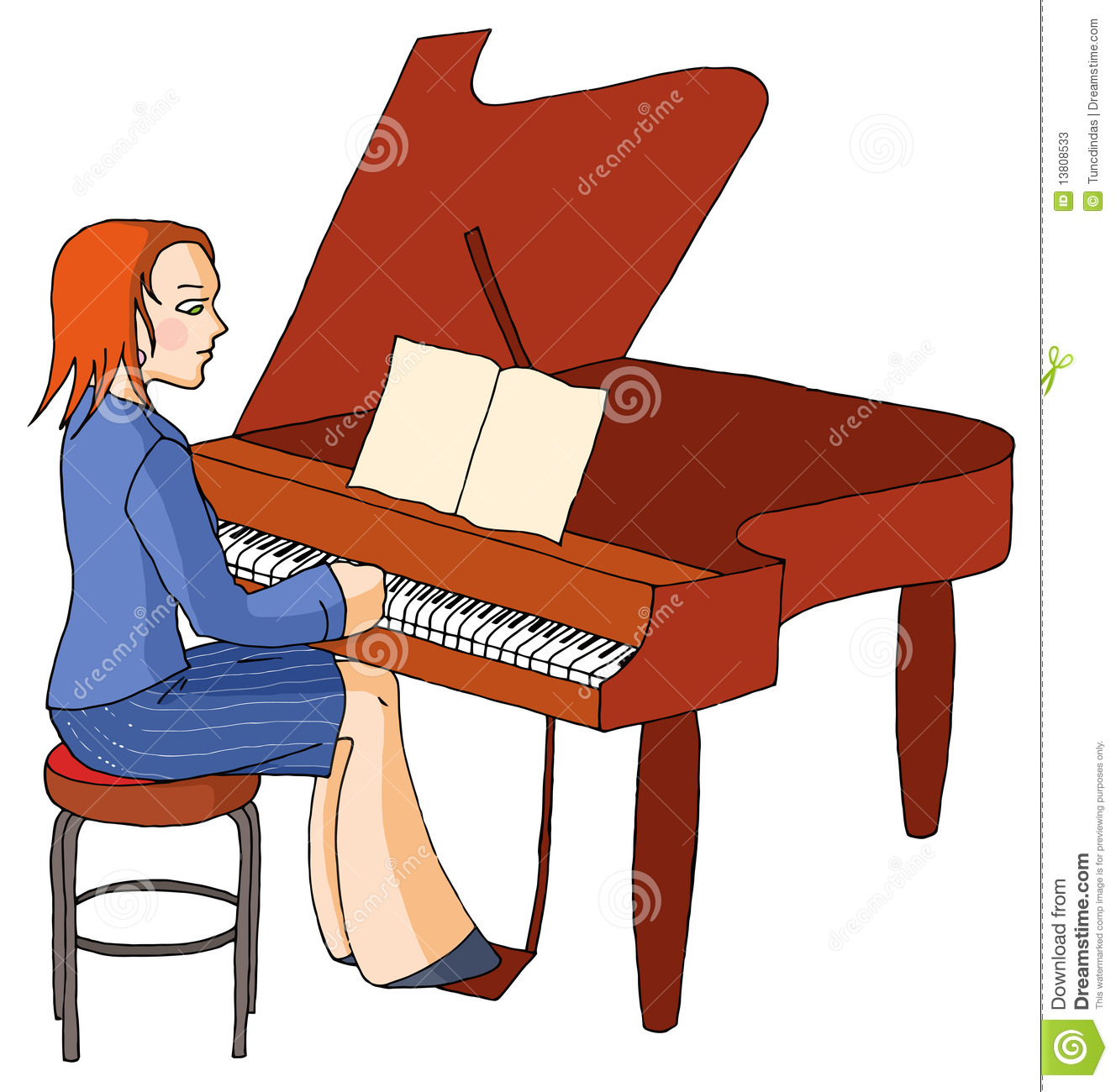 clipart girl playing piano - photo #25