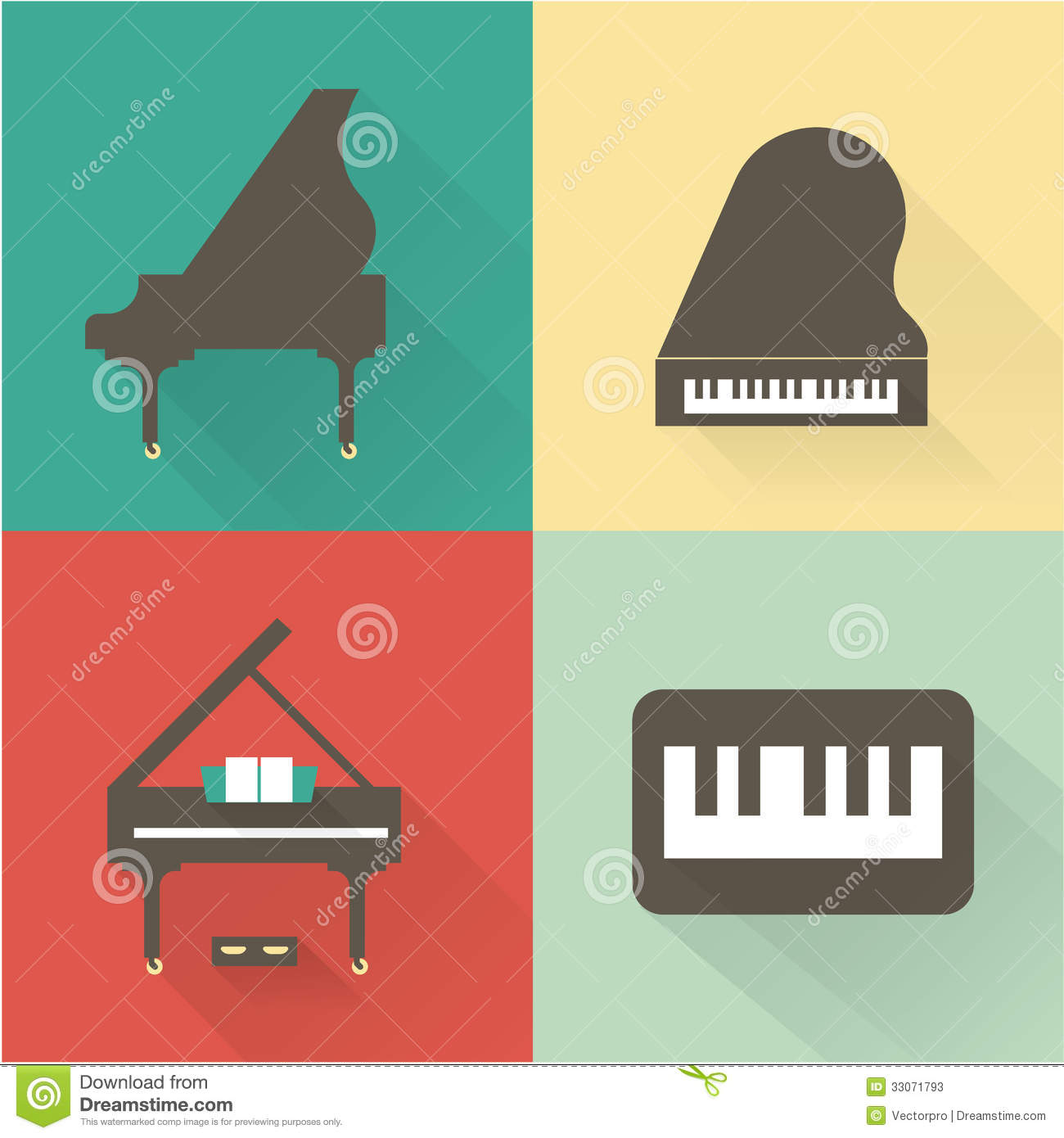 Piano Icons Stock Photos Image 33071793