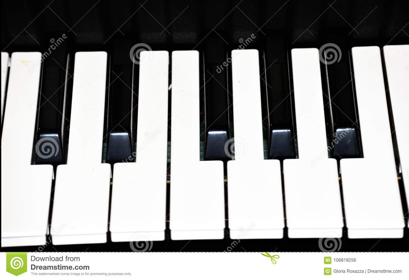 Piano Key Keyboard Image Template Stock Photo - Image of electronic ...