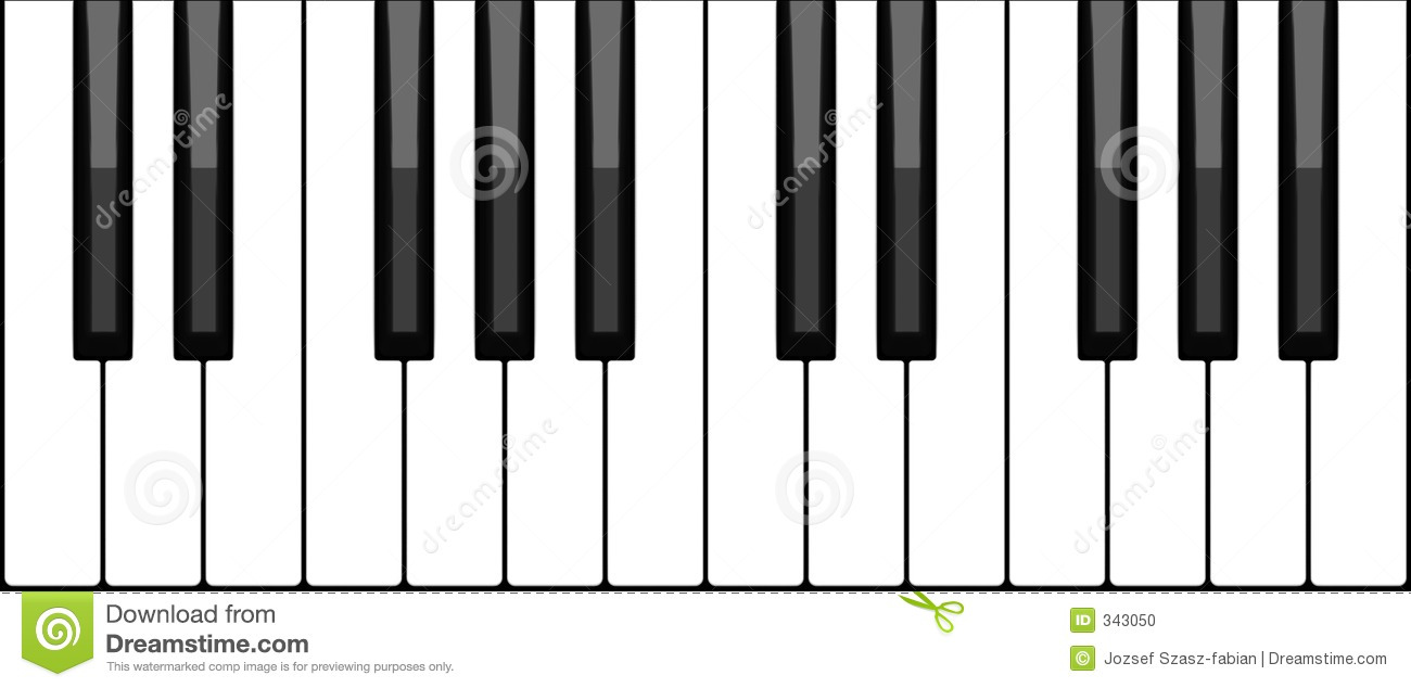 Piano keyboard stock vector  Illustration of concert, notes - 343050