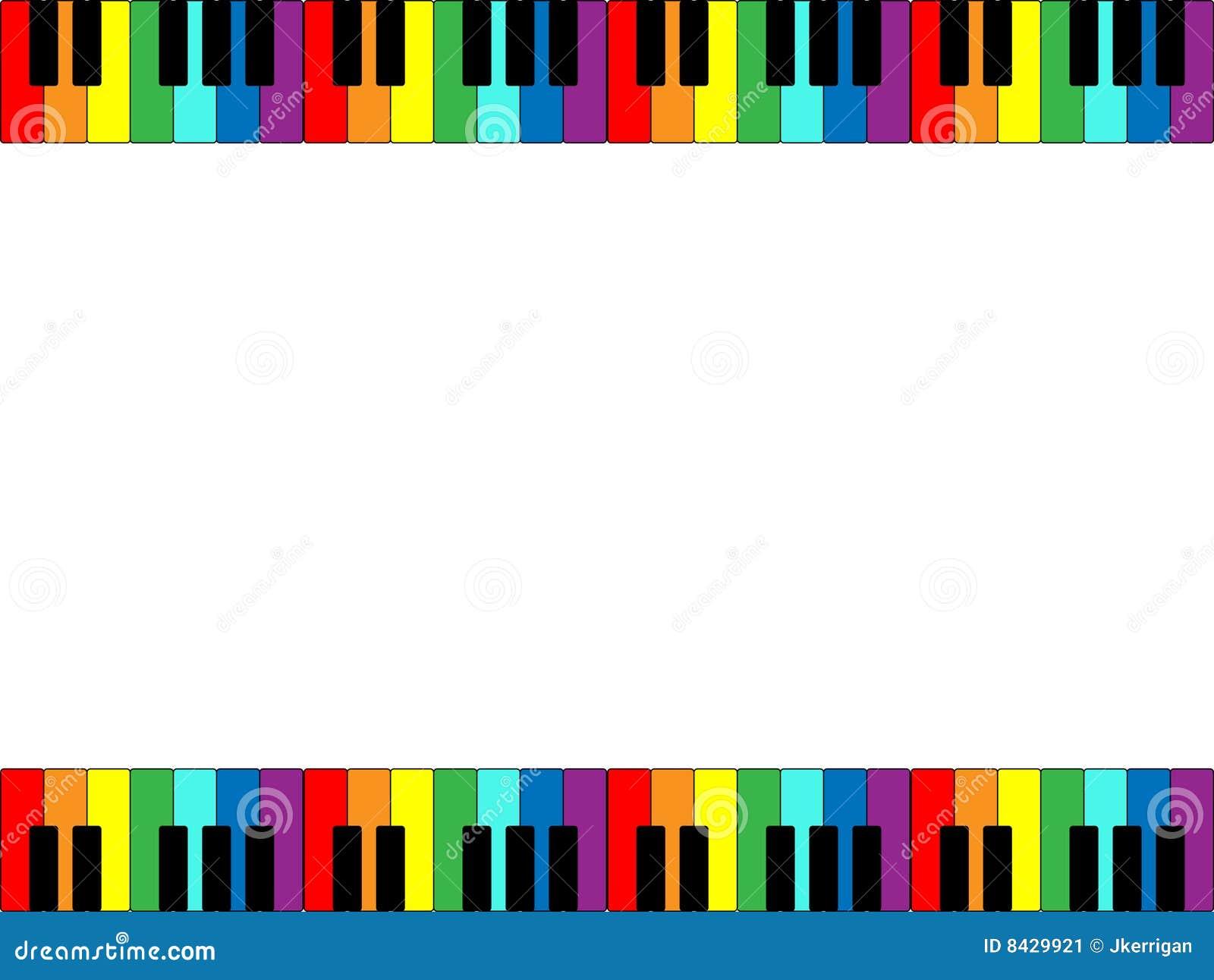 Piano Keyboard Border