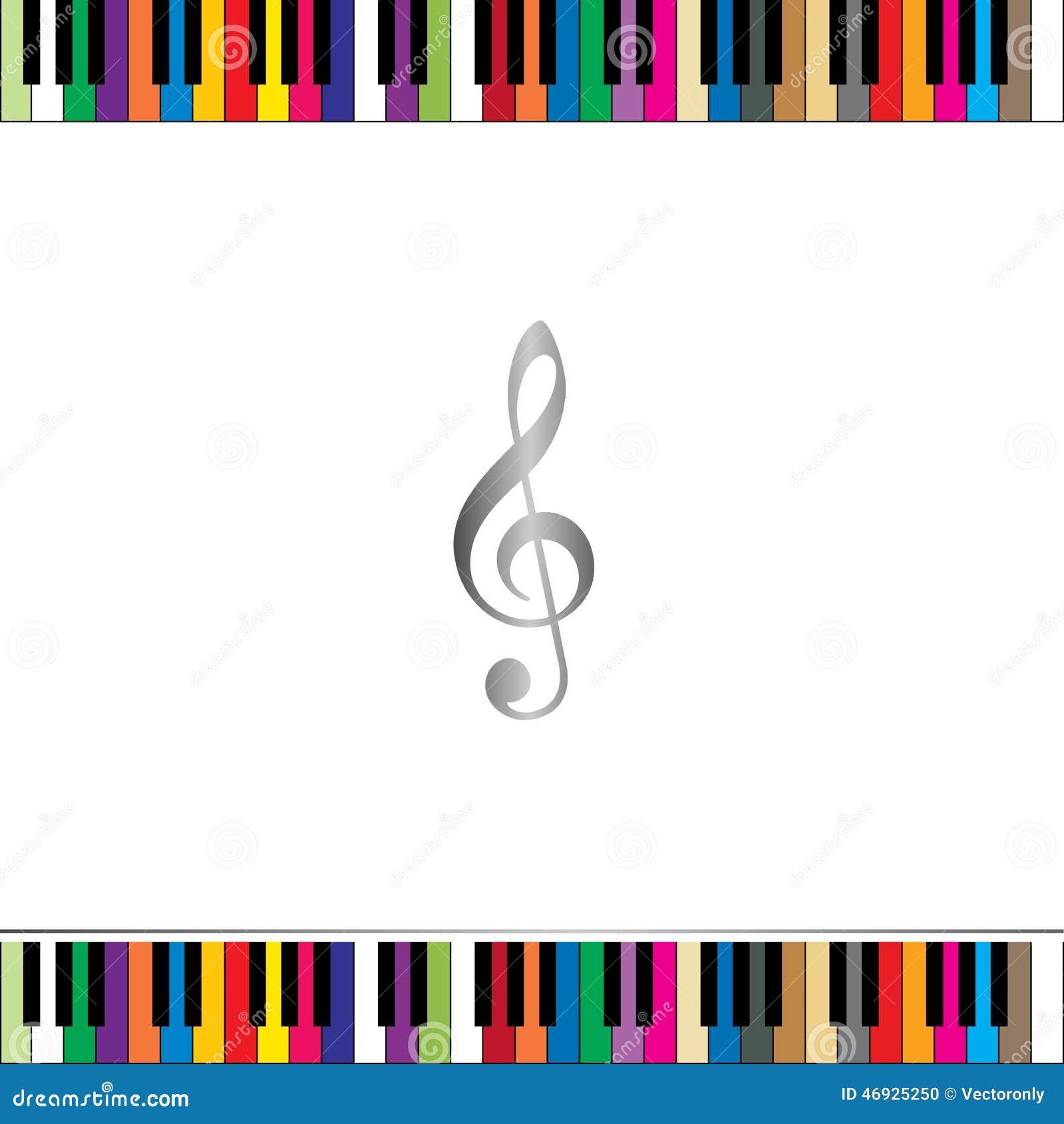 Piano Keyboard Border Stock Vector - Image: 46925250