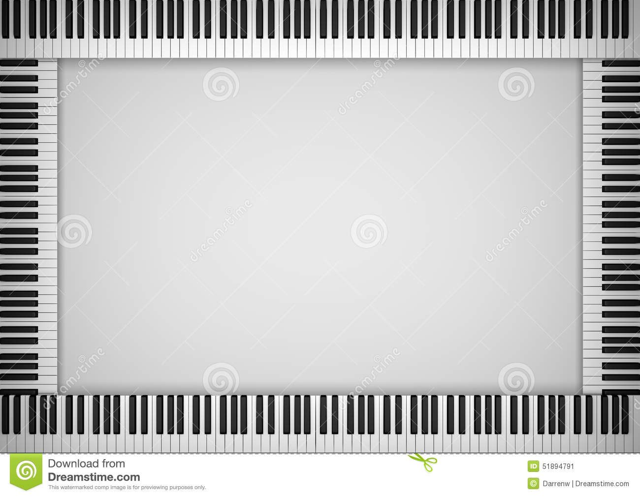 Piano Keyboard Frame