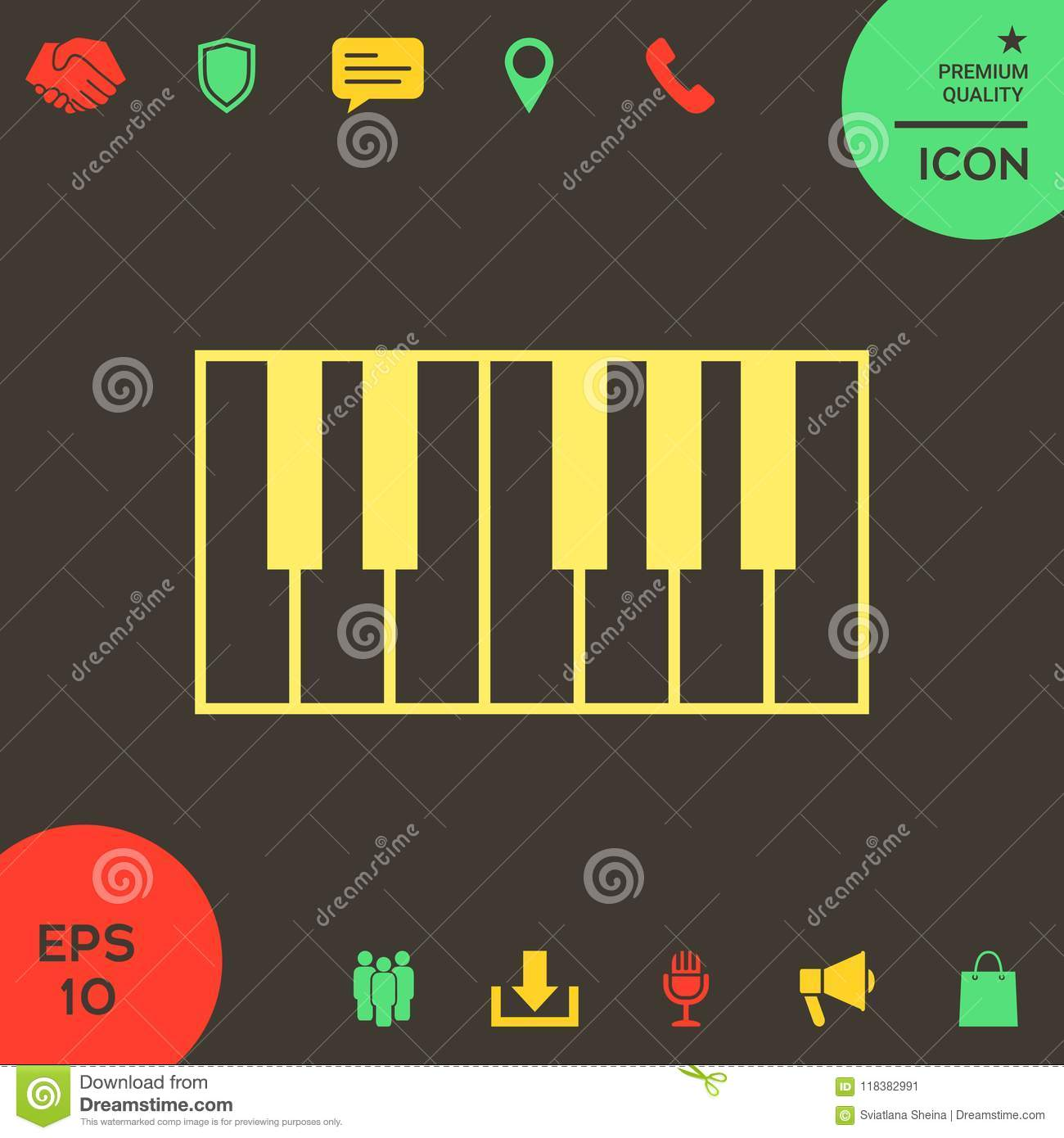 Piano Keyboard Icon Stock Vector Illustration Of Concept 118382991
