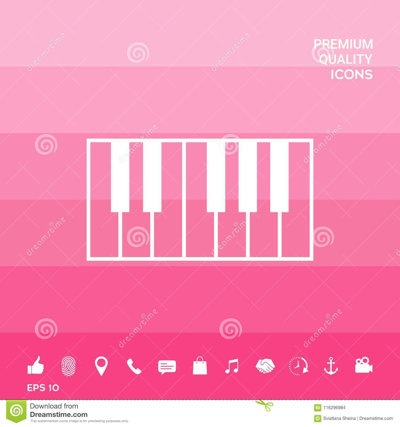 Piano Keyboard Icon Stock Vector Illustration Of Octave 116296984