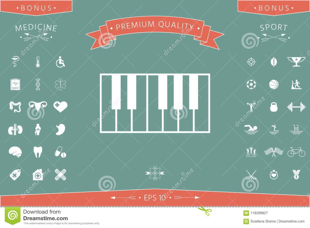 Piano Keyboard Icon Stock Vector Illustration Of Concept 118289827