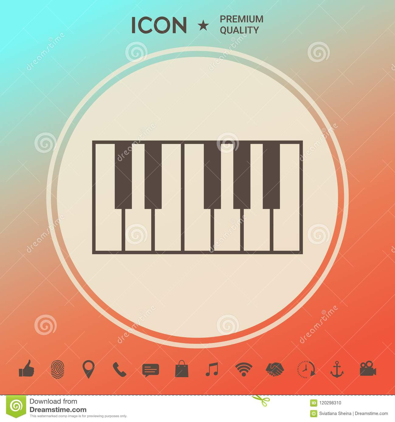 Piano Keyboard Icon Stock Vector Illustration Of Instrument 120298310