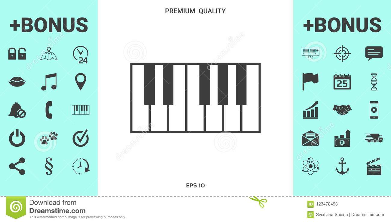 Piano Keyboard Icon Stock Vector Illustration Of Sound 123478493