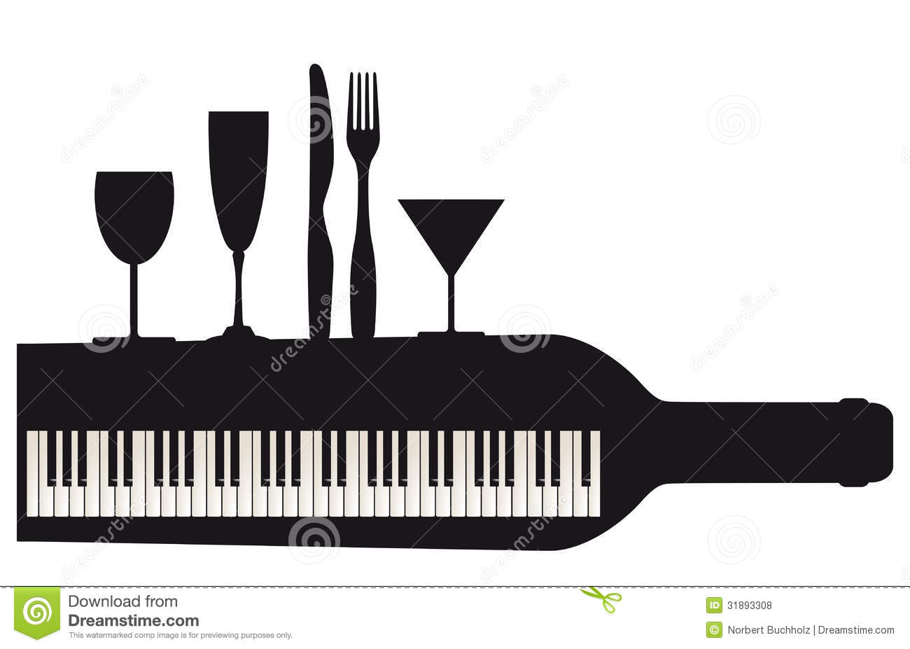 Piano Keyboard And Party Royalty Free Stock Photos Image