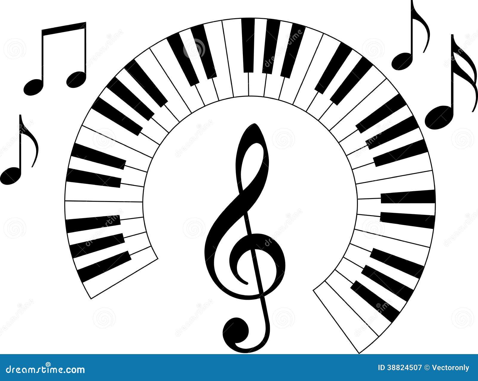 Piano Keyboard Stock Vector Image 38824507