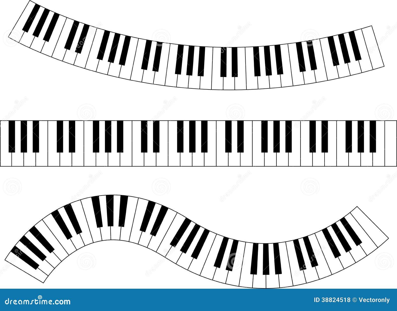 Piano keyboard stock vector image 38824518
