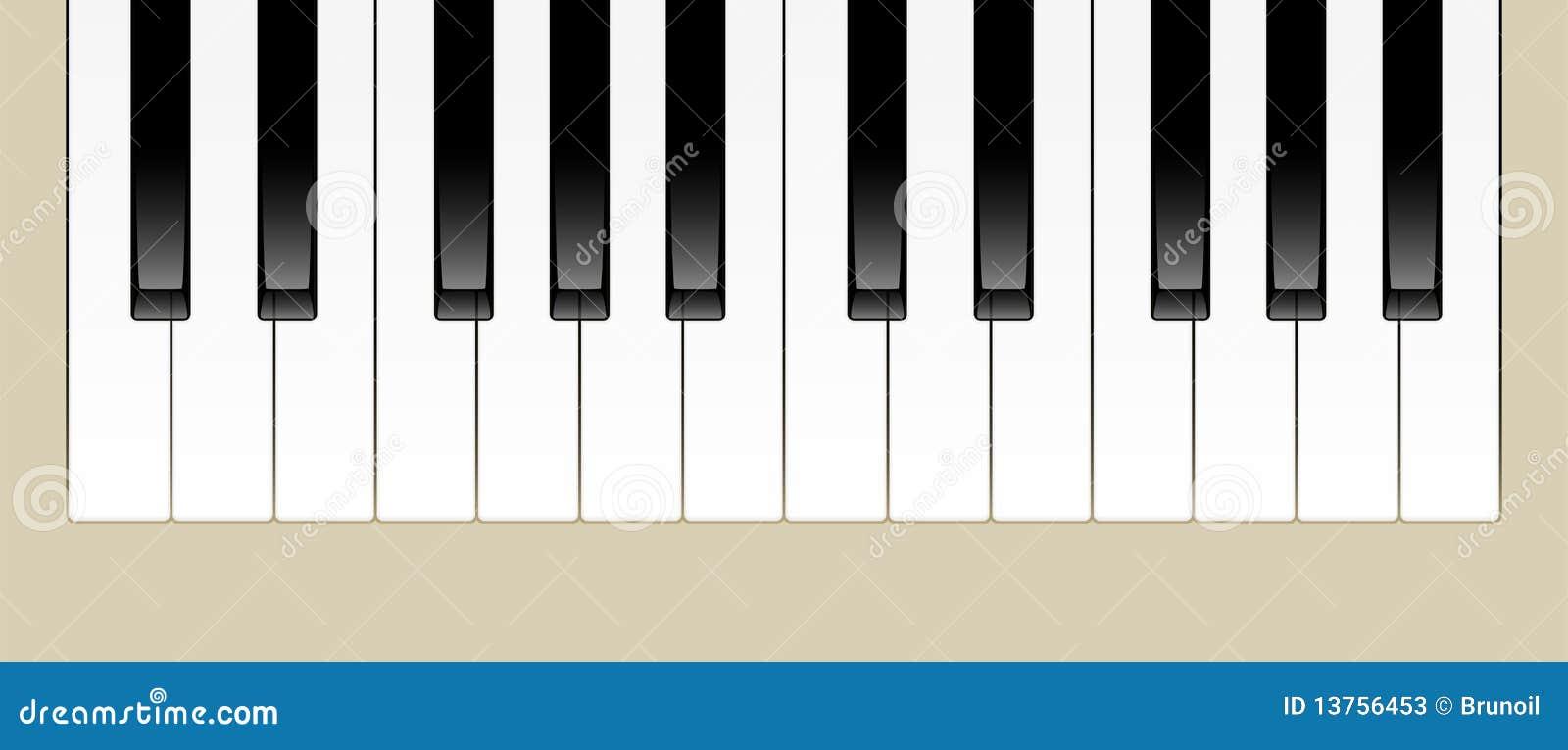 Piano Keys stock vector  Illustration of sounds, keyboard - 13756453