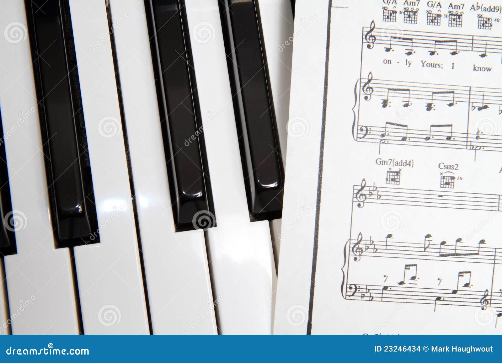 Piano Keys Stock Photo Image Of Black Sheet Piano 23246434