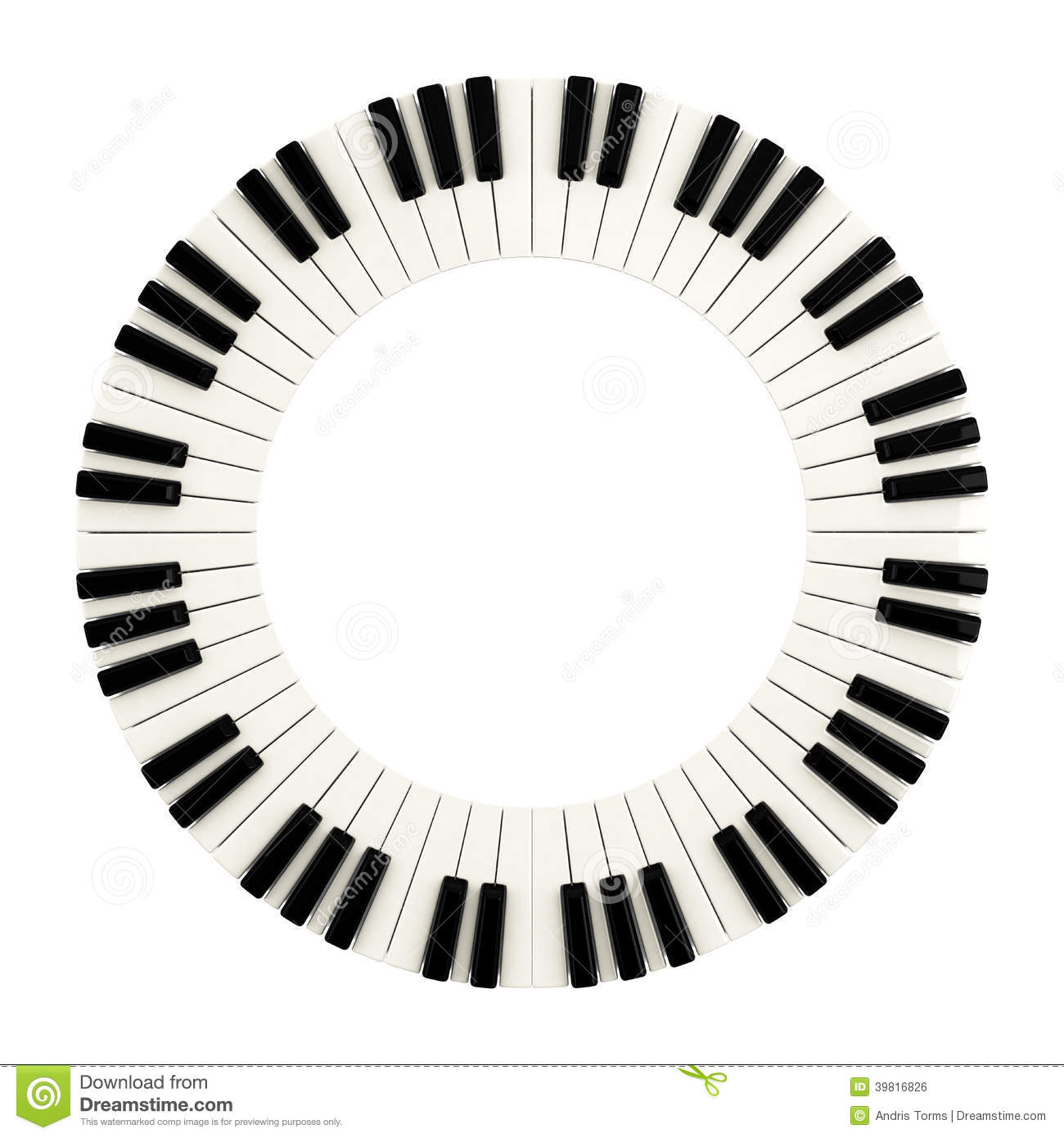 Piano Keys Circle 3d Stock Illustration Image 39816826