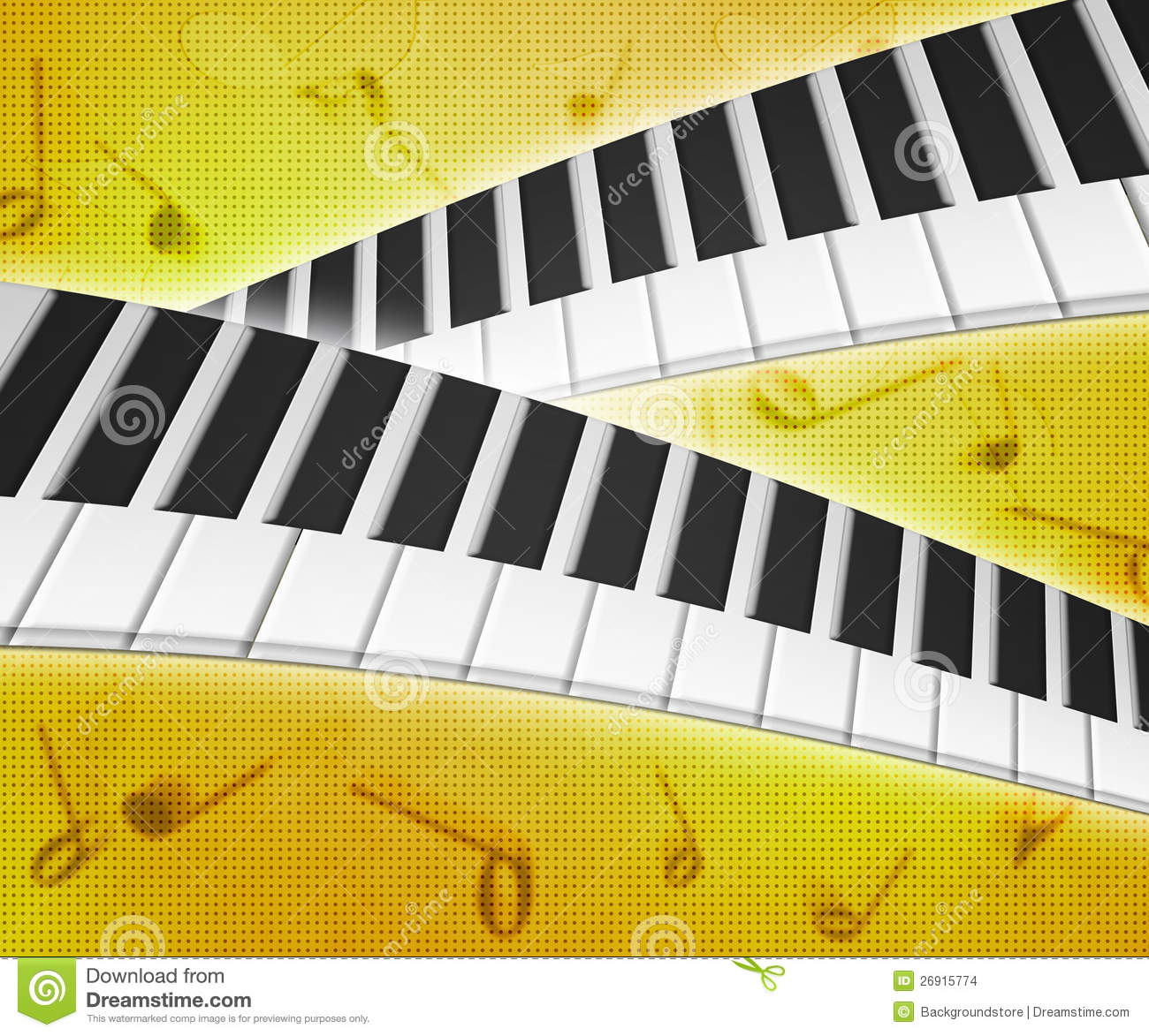 Piano Background Music: Piano Keys Music Background Texture Stock Images