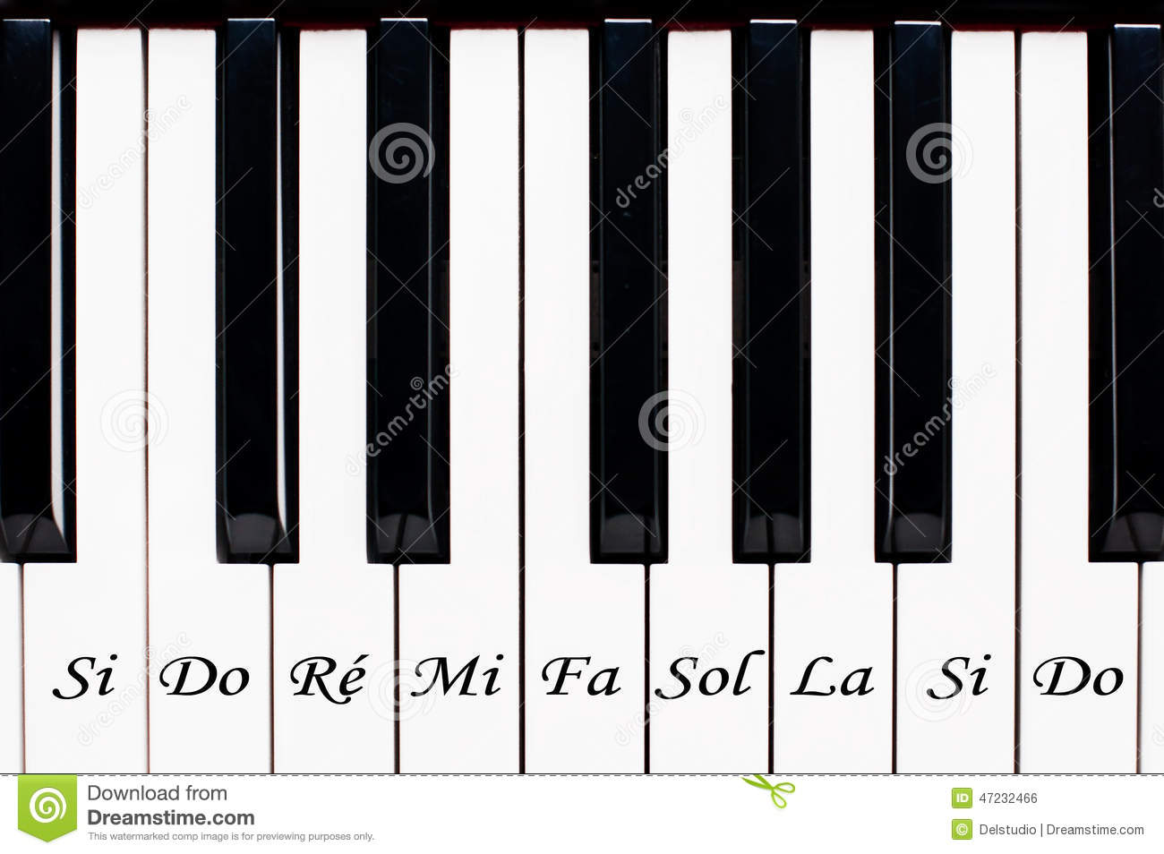piano keys with the name of the notes stock photo image. Black Bedroom Furniture Sets. Home Design Ideas