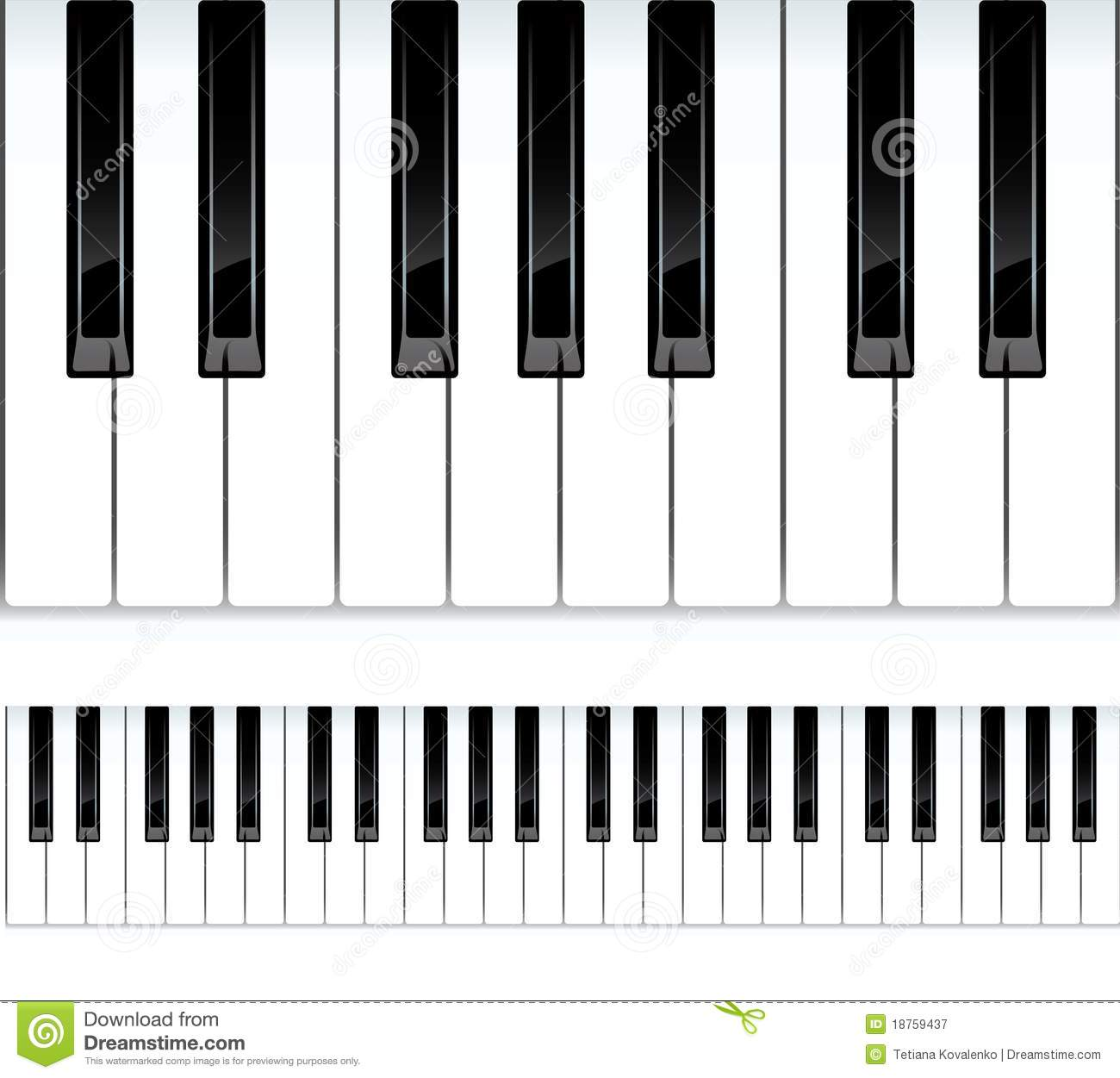 Line Drawing Keyboard : Piano keys seamless illustration royalty free stock
