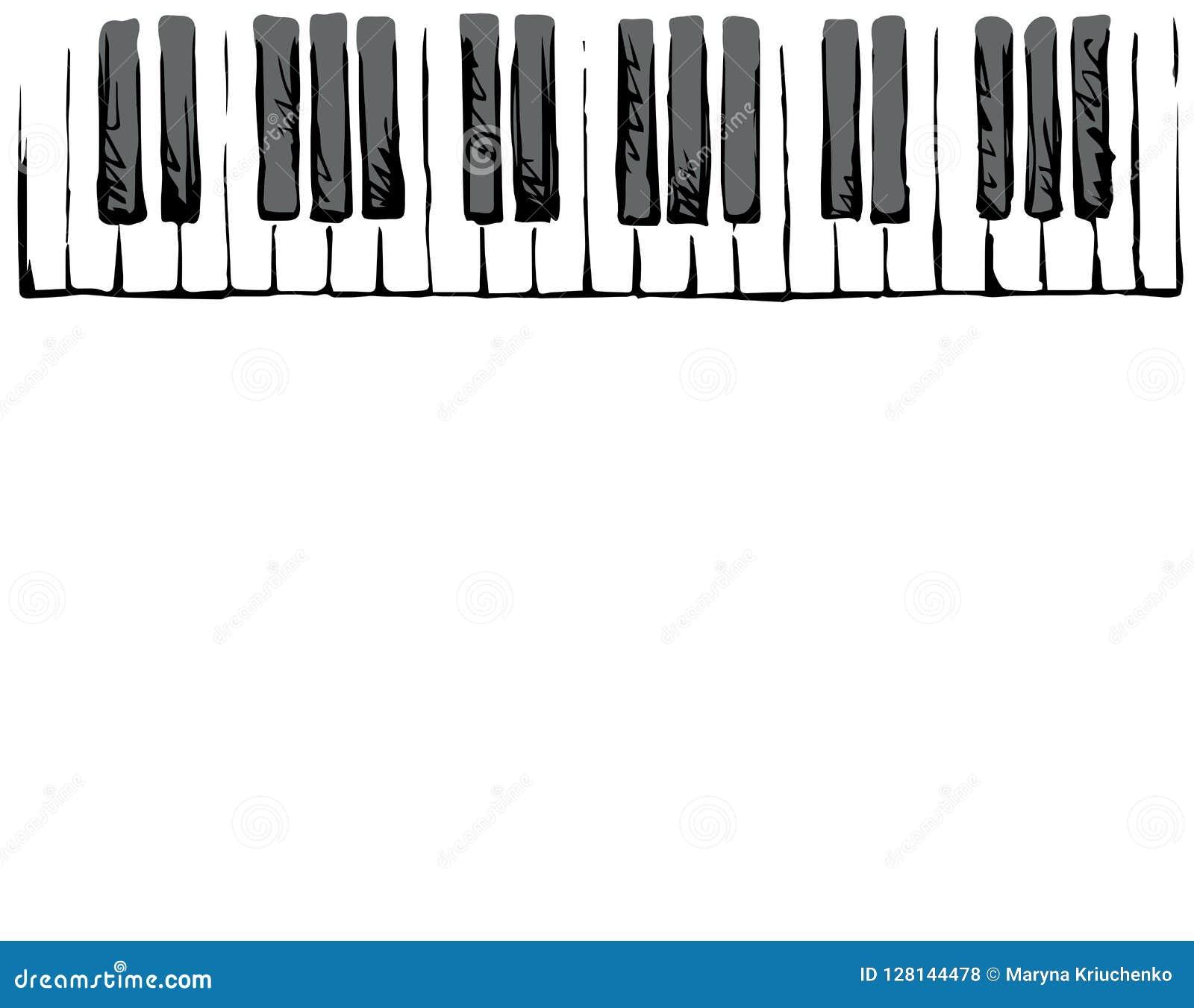Piano Keys Vector Drawing Stock Vector Illustration Of Graphic 128144478