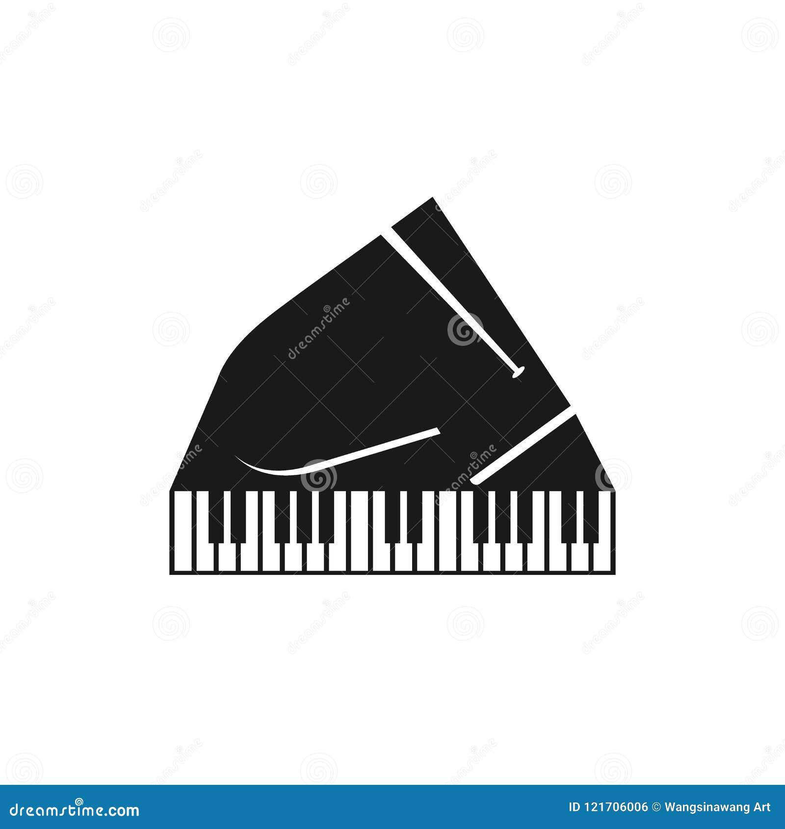 Piano logo stock vector  Illustration of voice, contour - 121706006