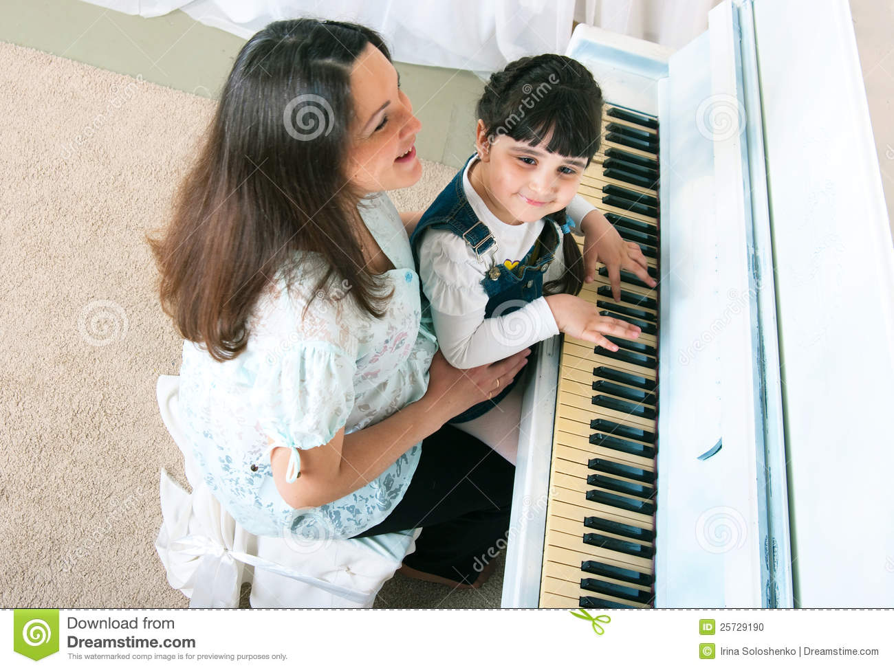 Piano Lessons - Mother and Daughter