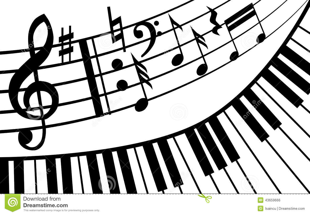 Piano music stock vector. Illustration of icon, curve - 43659666