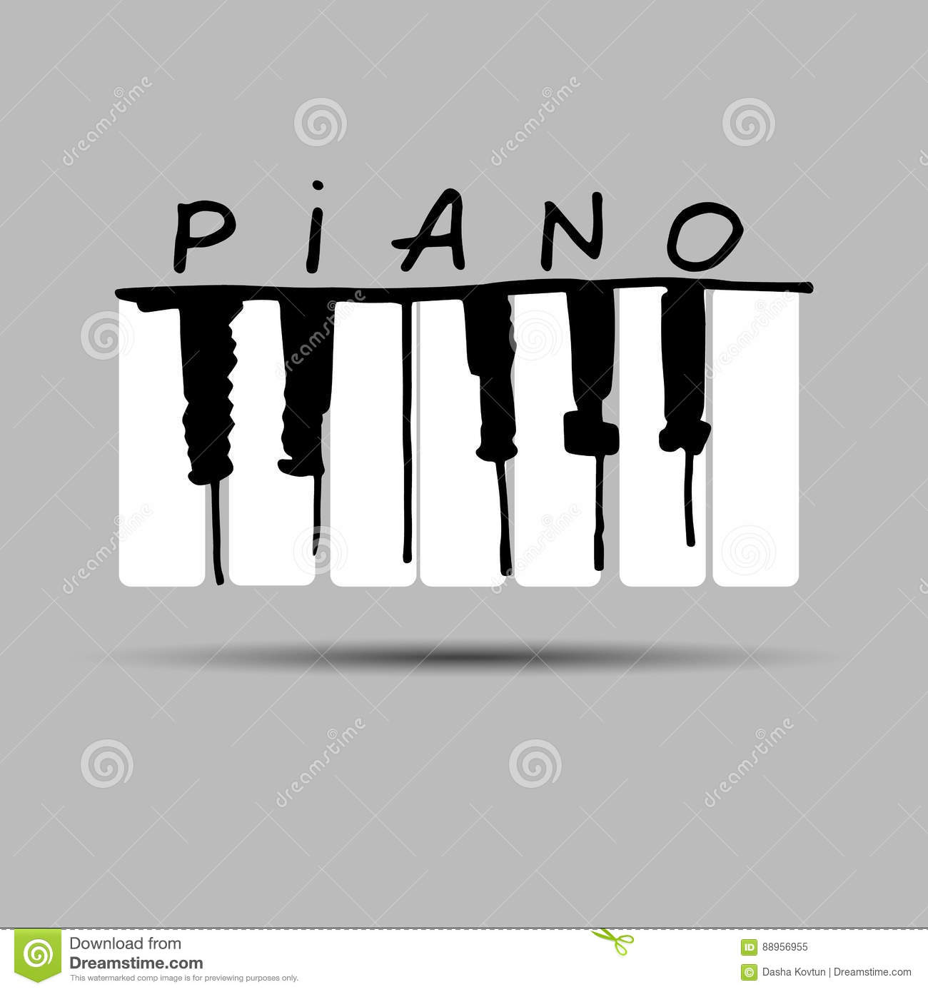 Piano Music Musical Vector Illustration Key Instrument Keyboard
